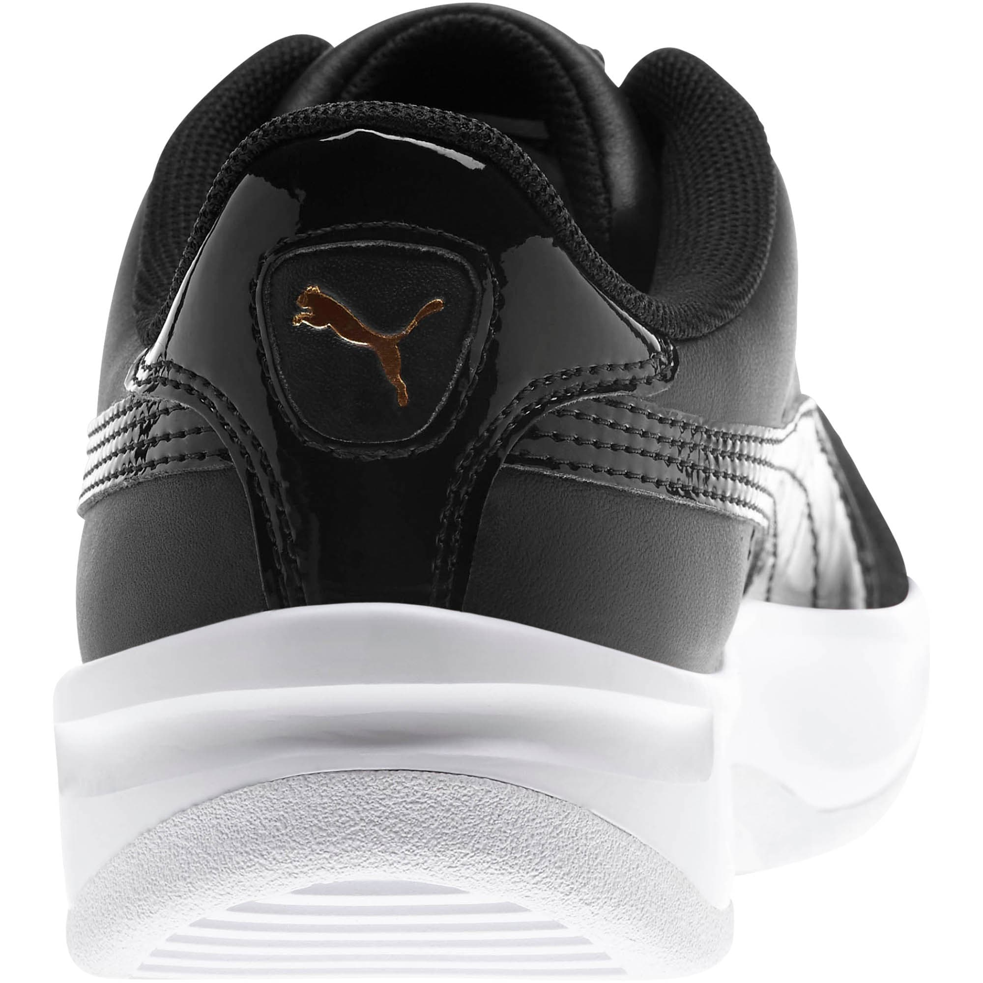 Thumbnail 3 of California Monochrome Women's Sneakers, Puma Black-Puma Team Gold, medium