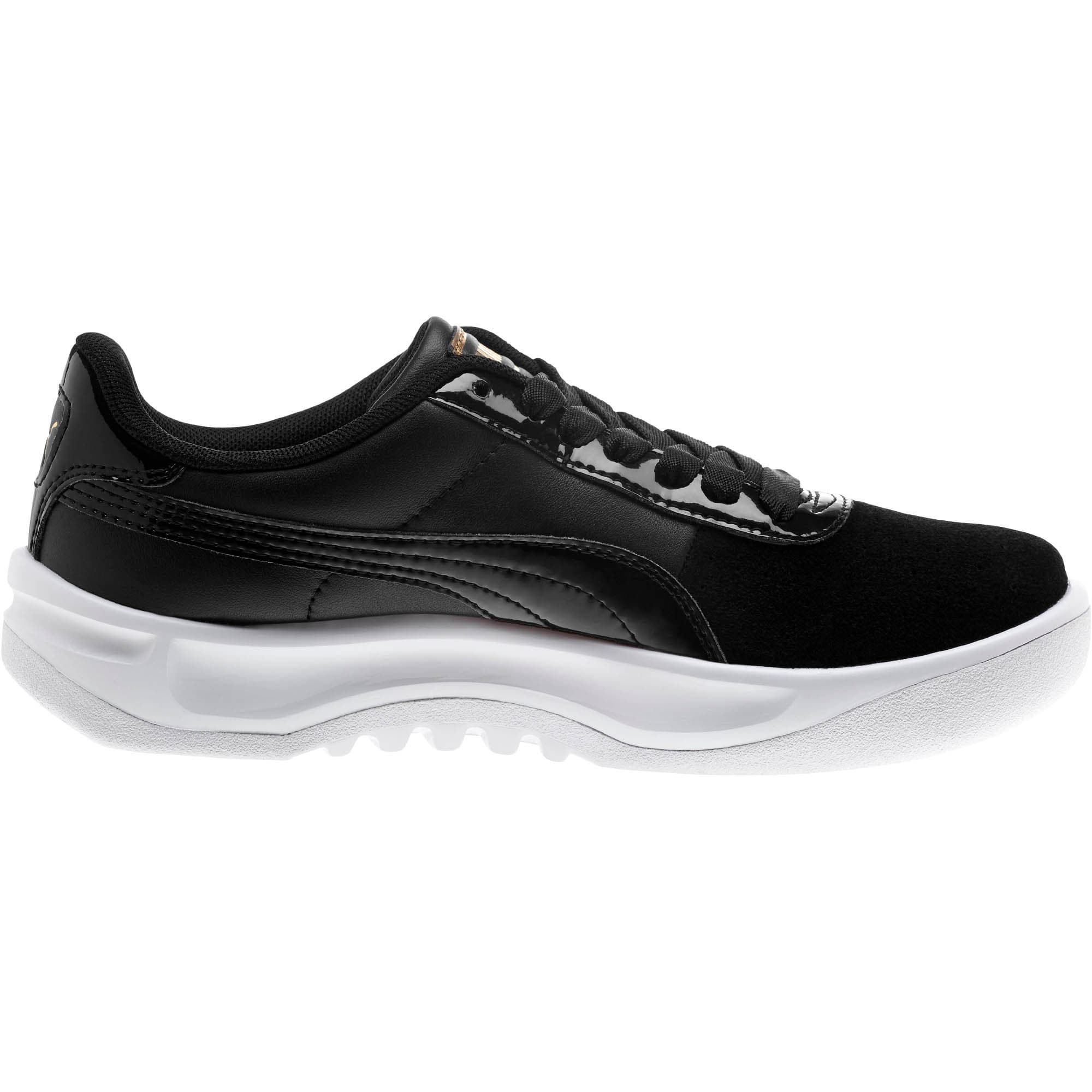 Thumbnail 4 of California Monochrome Women's Sneakers, Puma Black-Puma Team Gold, medium