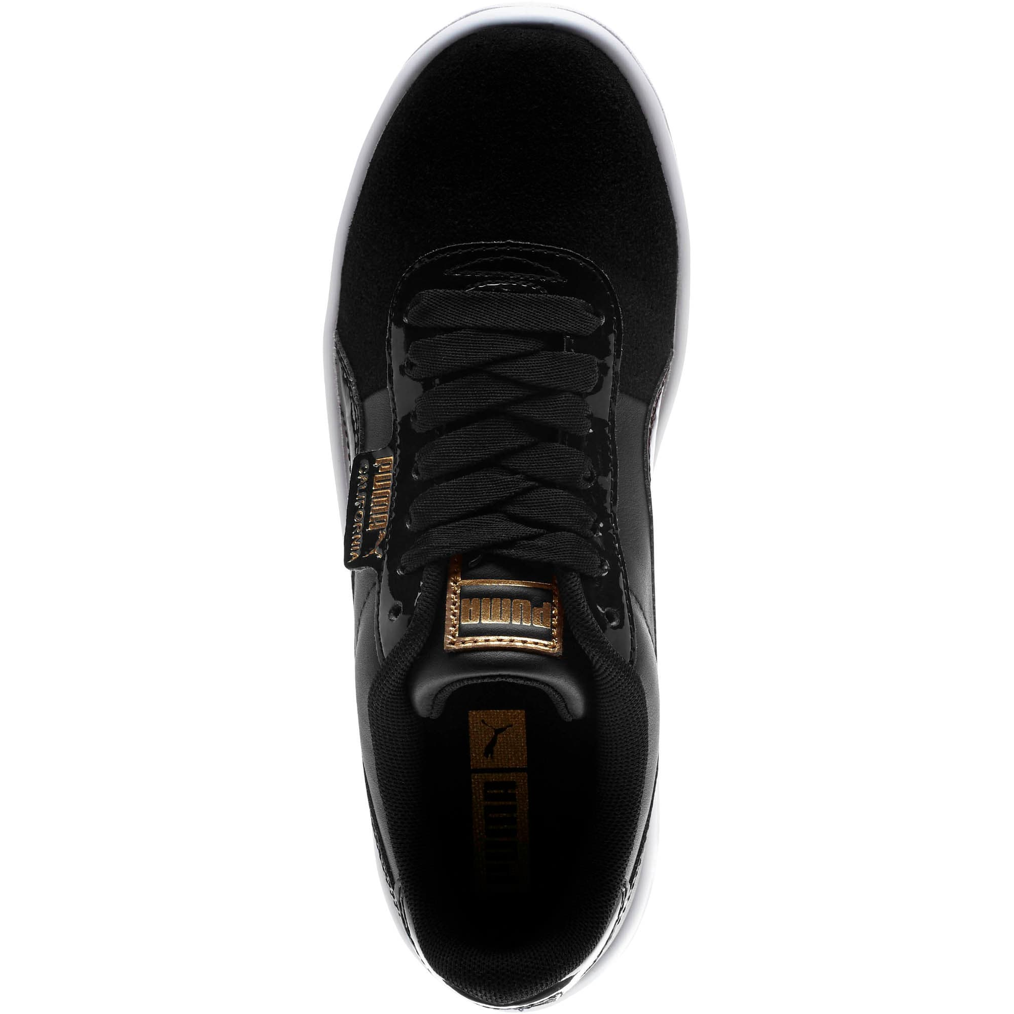 Thumbnail 5 of California Monochrome Women's Sneakers, Puma Black-Puma Team Gold, medium