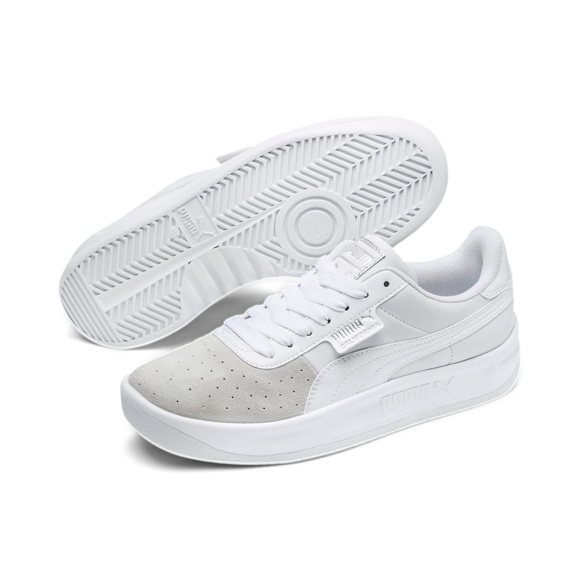 Thumbnail 3 of California Monochrome Women's Sneakers, Puma White-Puma Silver, medium