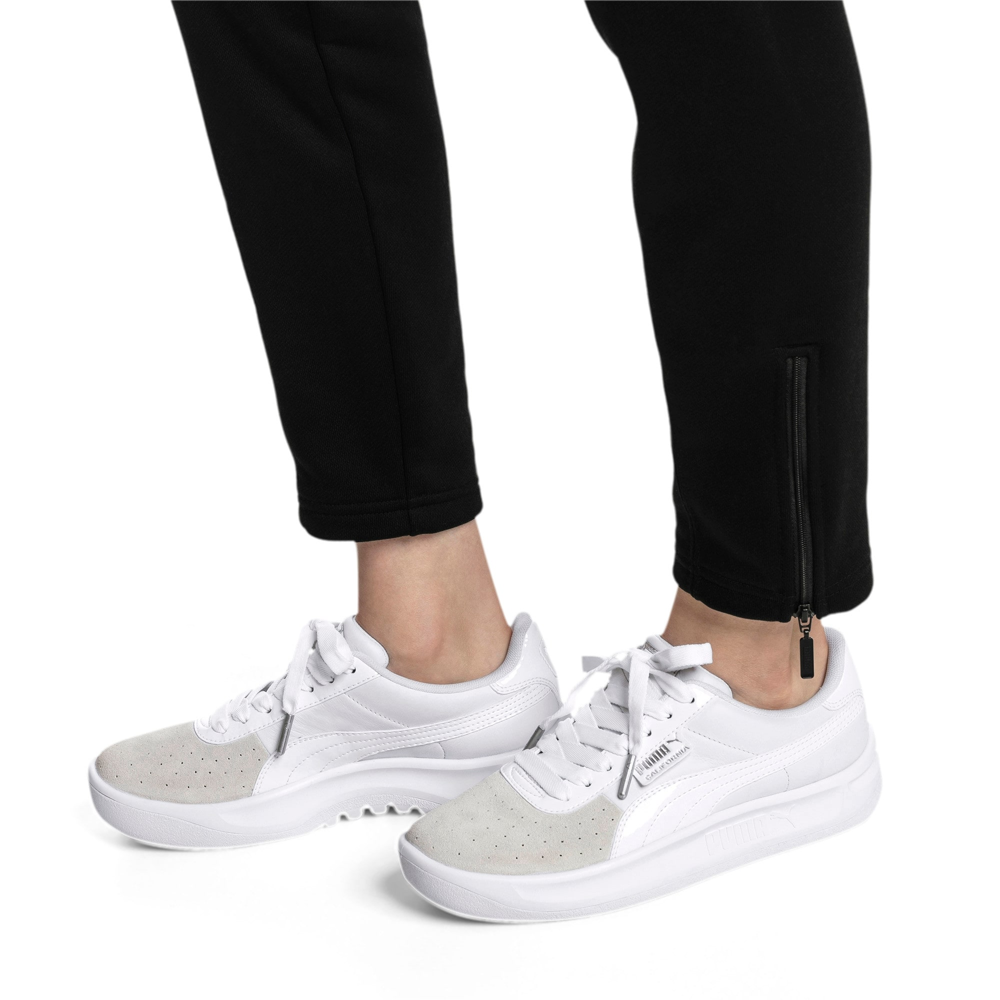 Thumbnail 2 of California Monochrome Women's Sneakers, Puma White-Puma Silver, medium