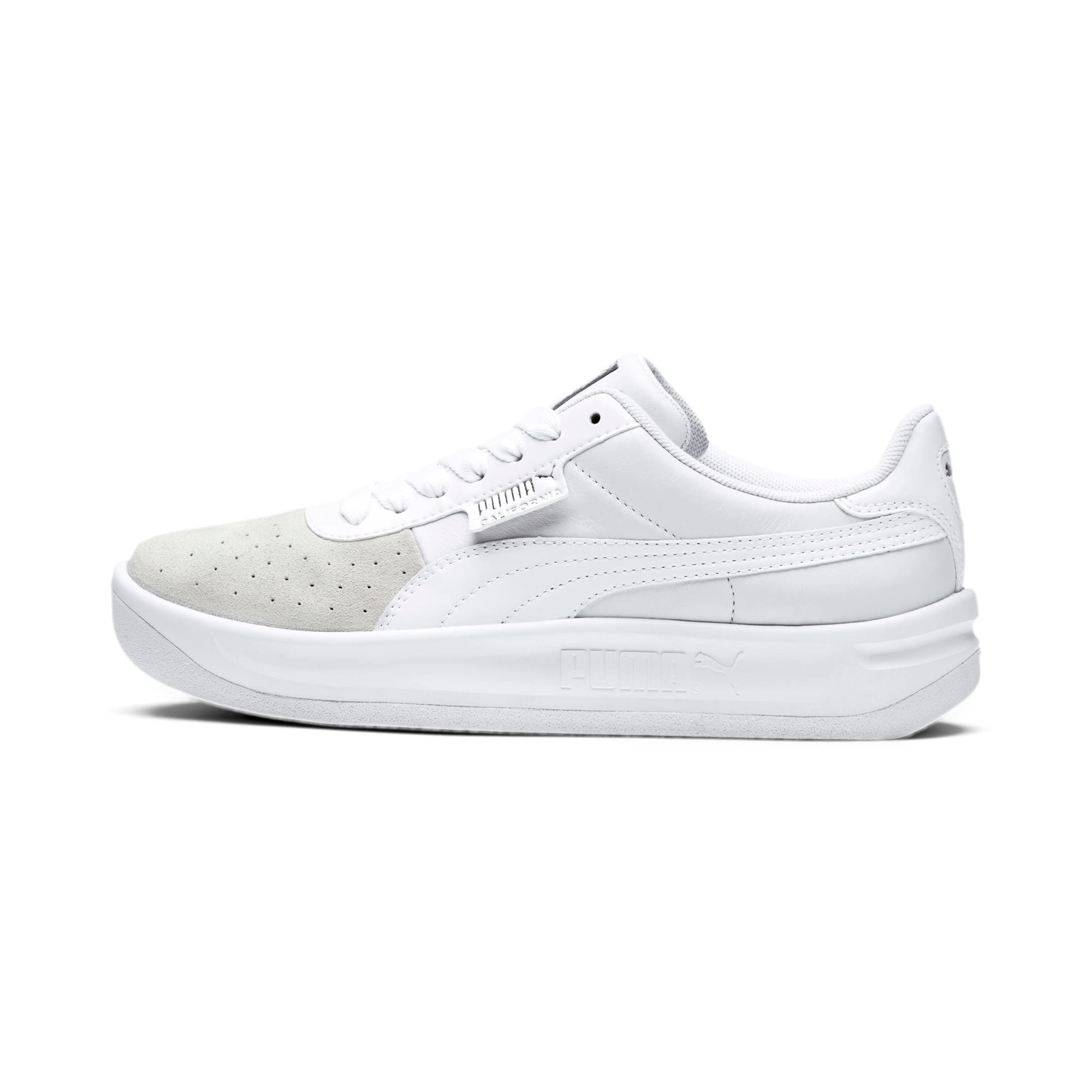 Thumbnail 1 of California Monochrome Women's Sneakers, Puma White-Puma Silver, medium