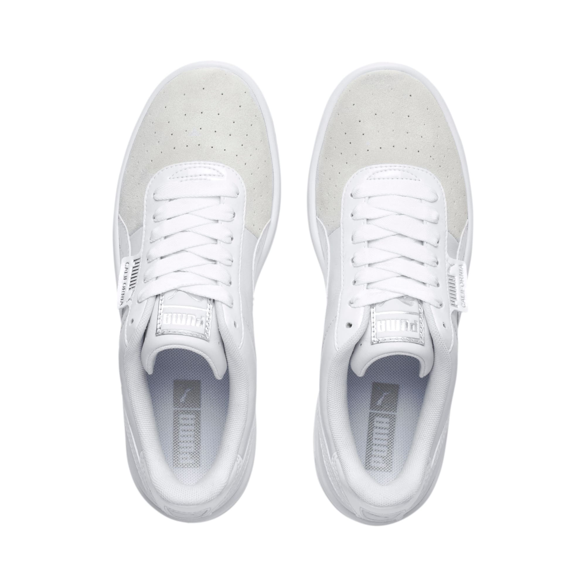 Thumbnail 7 of California Monochrome Women's Sneakers, Puma White-Puma Silver, medium