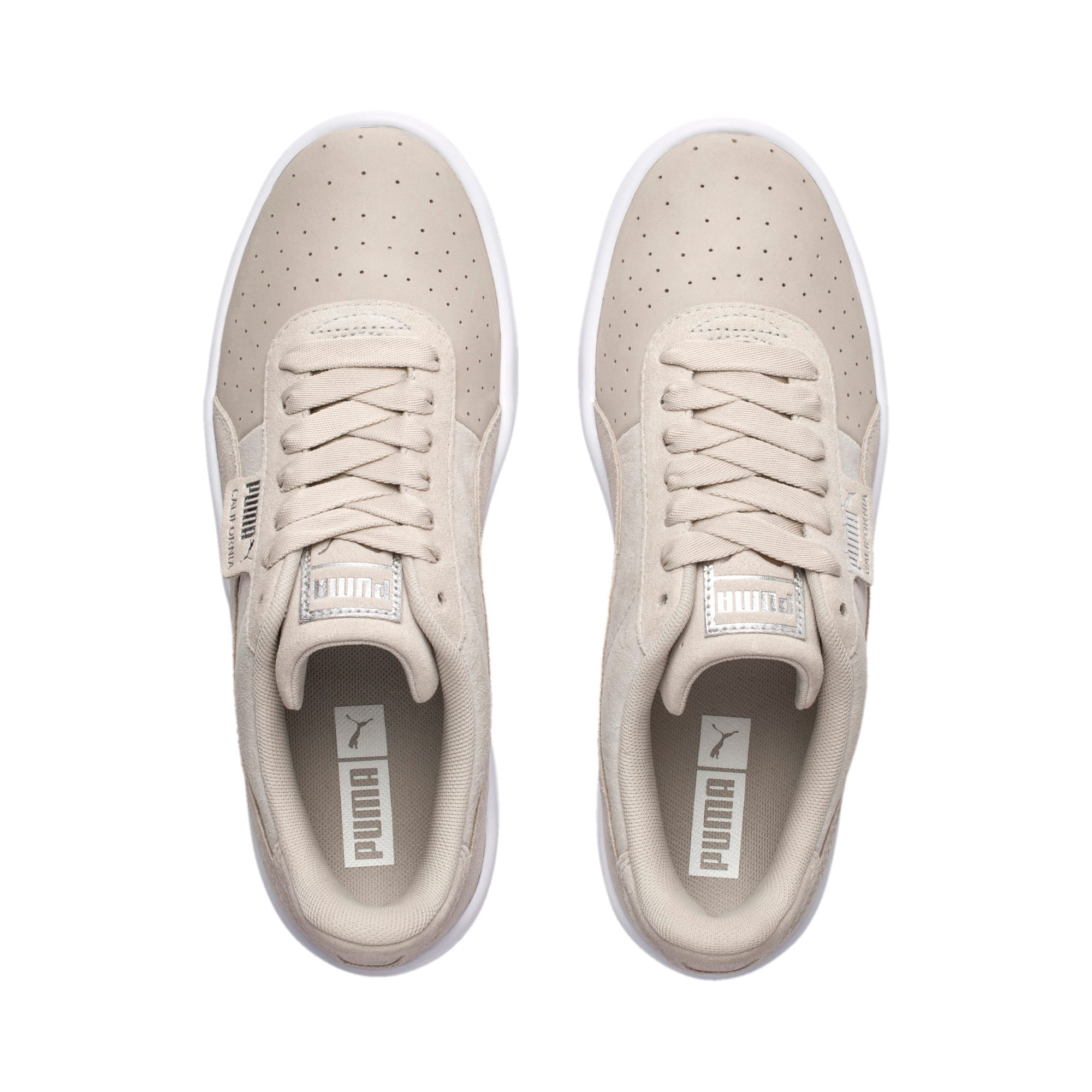 Thumbnail 7 of California Shimmer Damen Sneaker, Silver Gray-Puma Silver, medium
