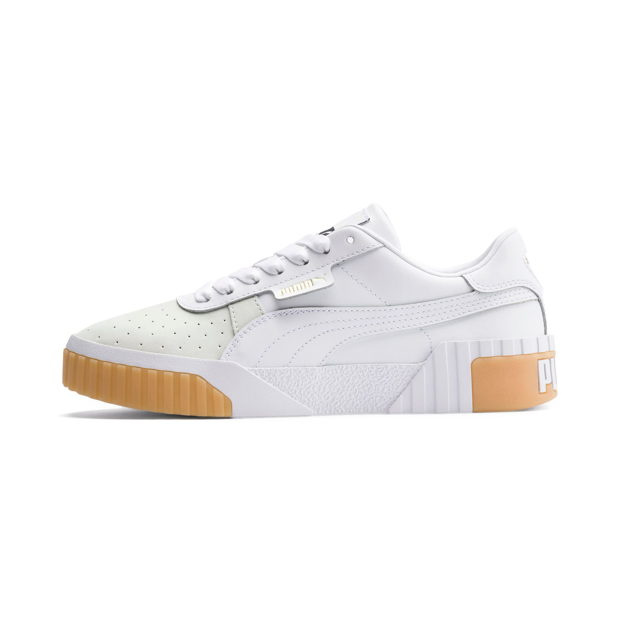 Thumbnail 1 of Cali Exotic Damen Sneaker, Puma White-Puma White, medium