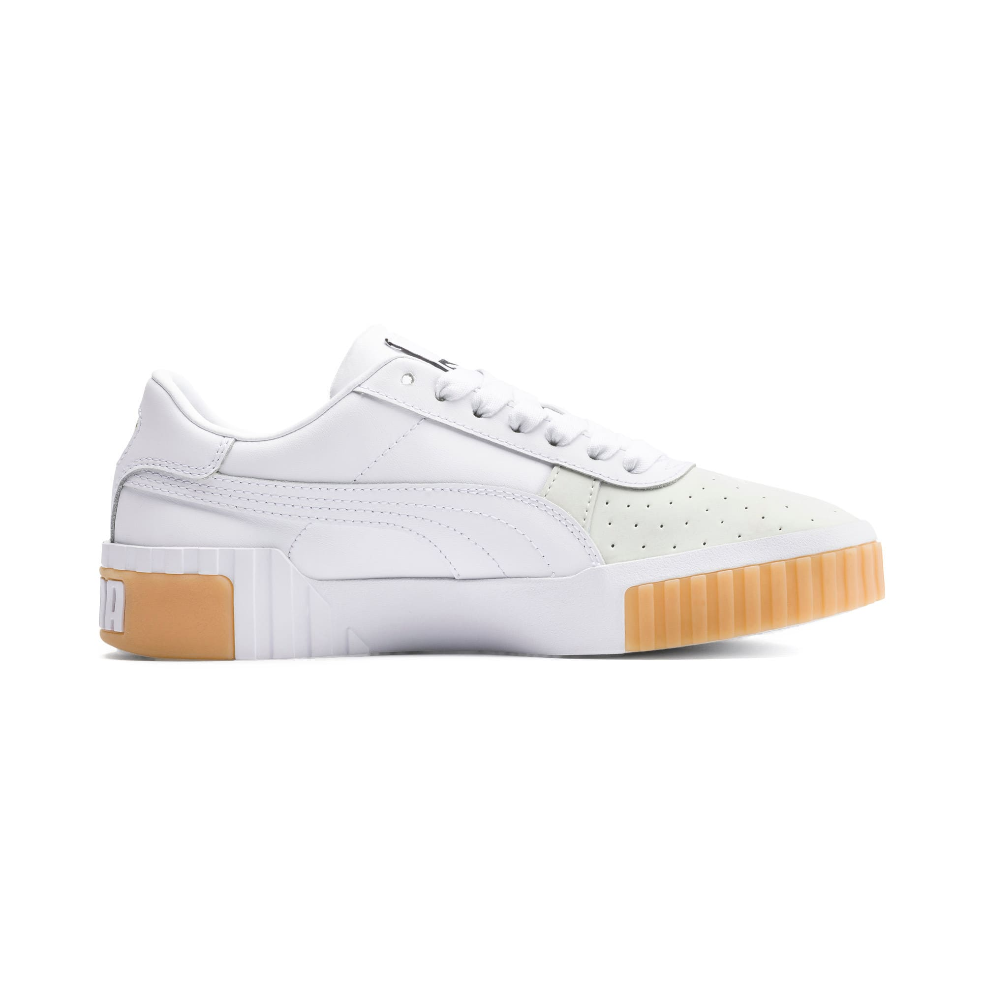 Thumbnail 5 of Cali Exotic Damen Sneaker, Puma White-Puma White, medium
