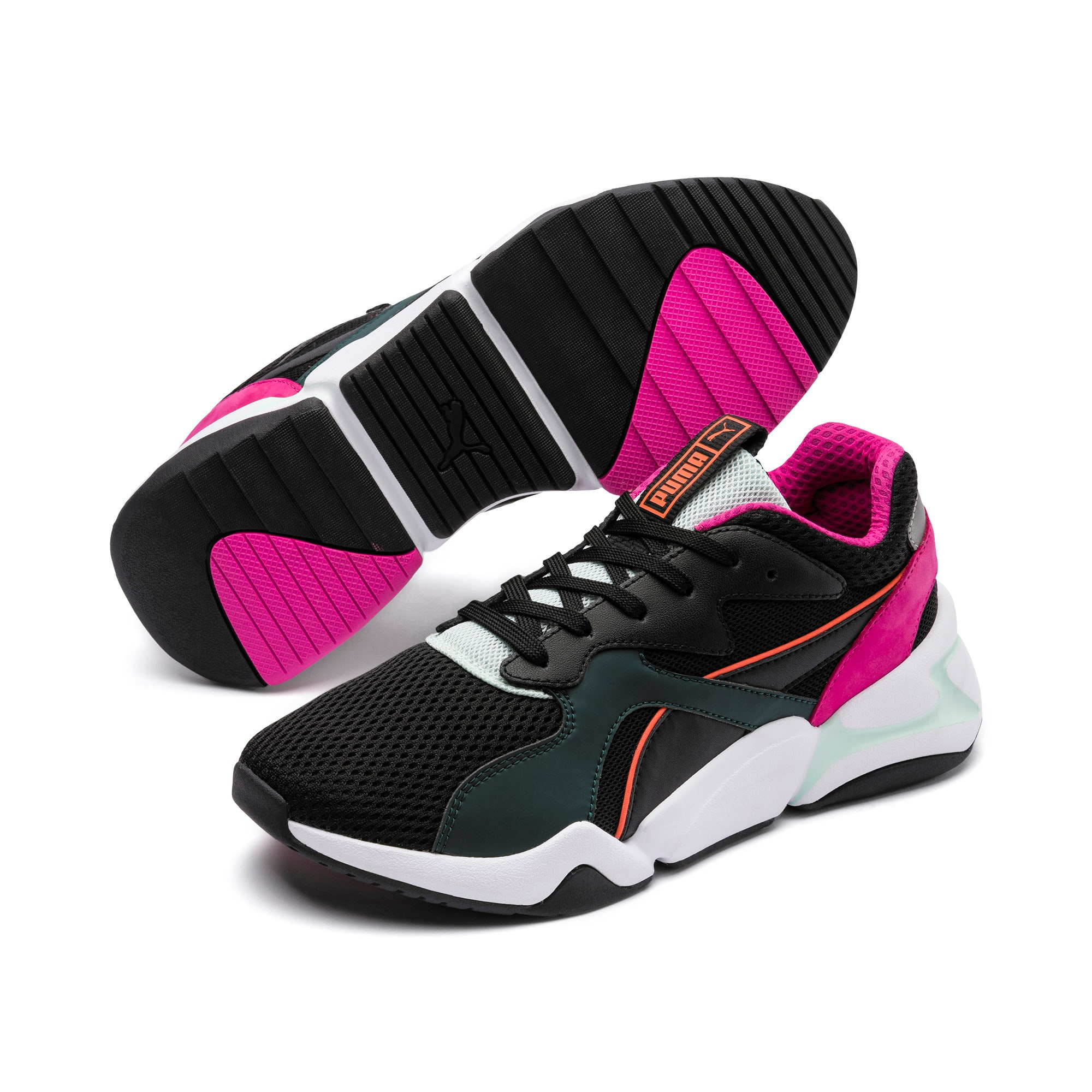 Thumbnail 3 of Nova Mesh Women's Trainers, Puma Black-Fair Aqua, medium