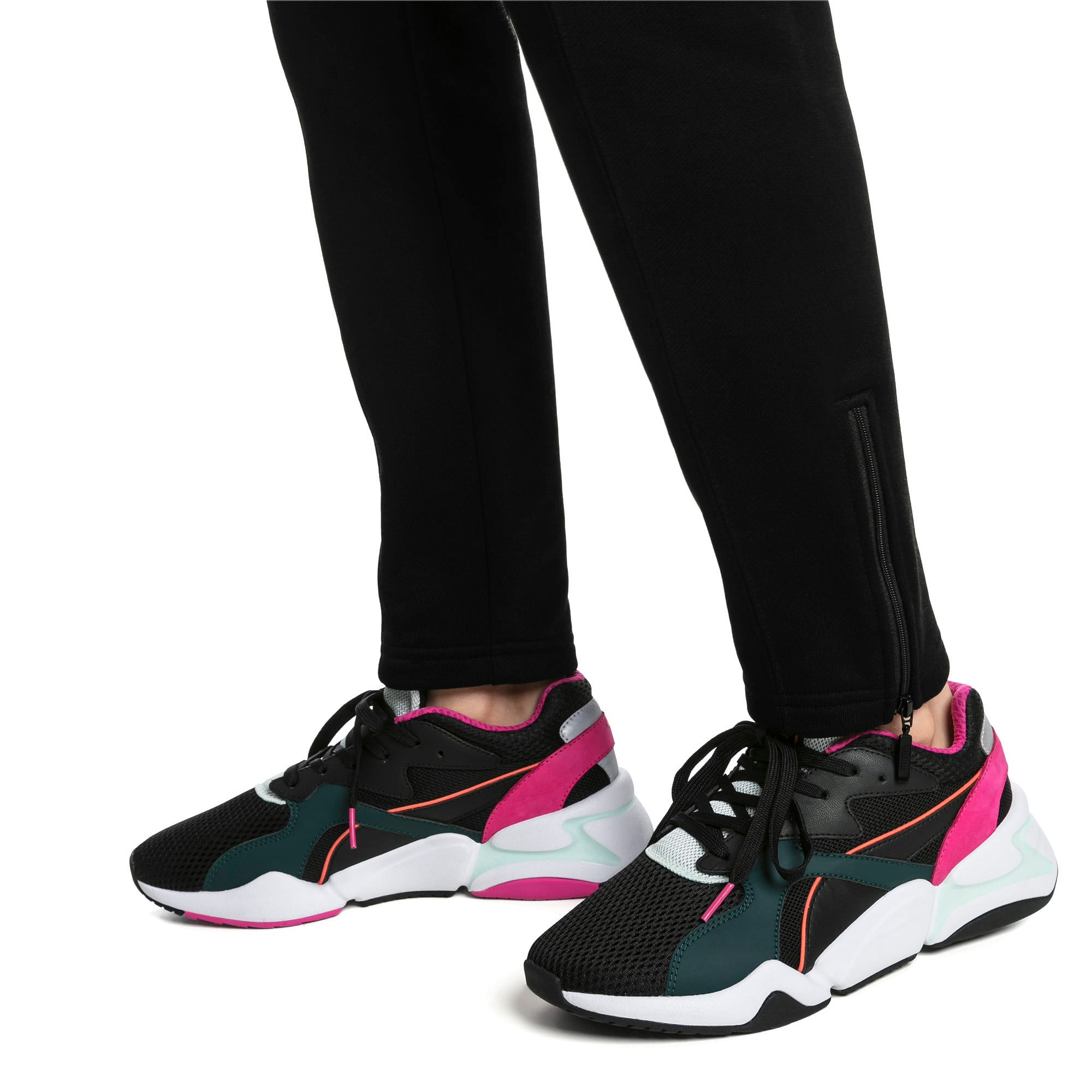 Thumbnail 2 of Nova Mesh Women's Trainers, Puma Black-Fair Aqua, medium