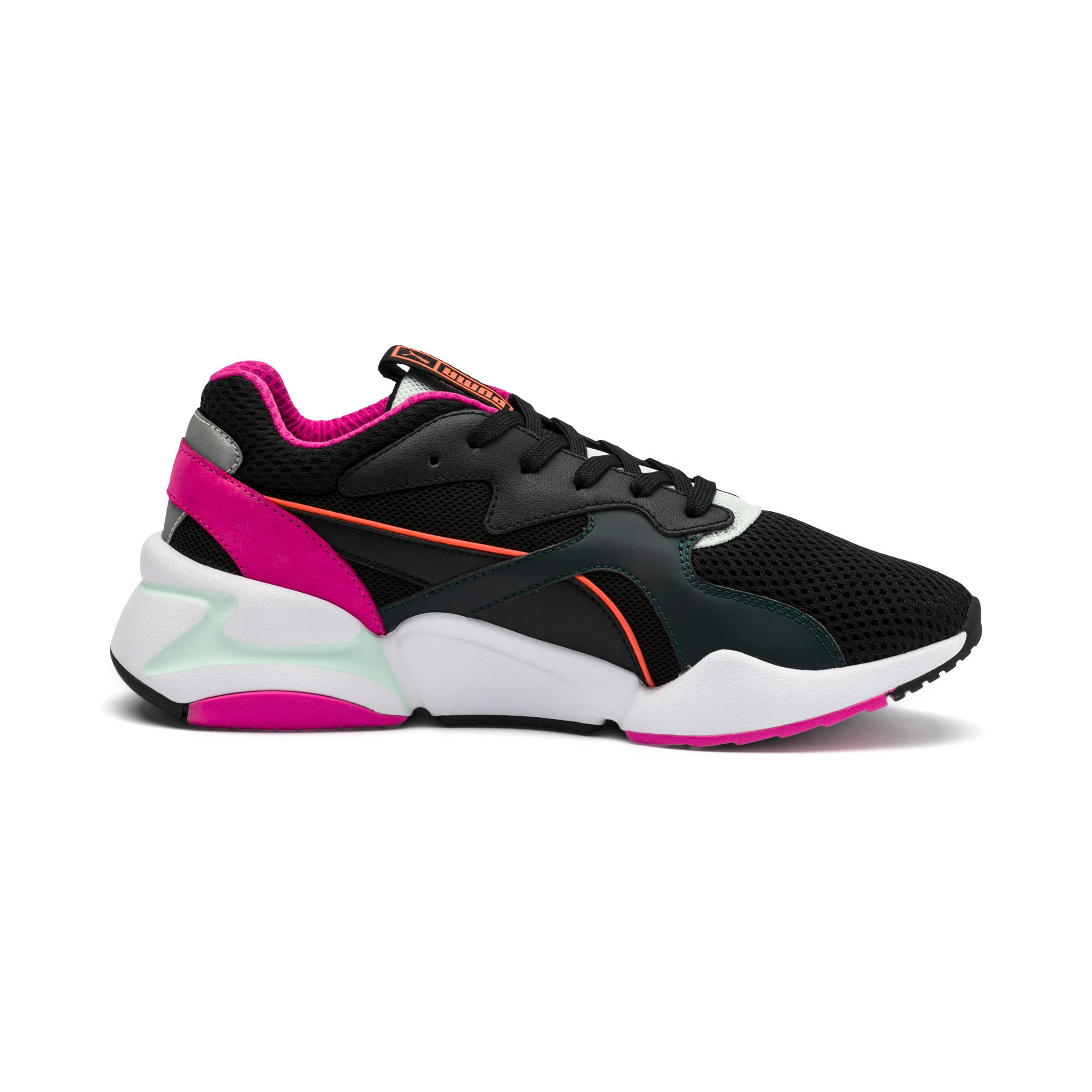 Thumbnail 6 of Nova Mesh Women's Trainers, Puma Black-Fair Aqua, medium