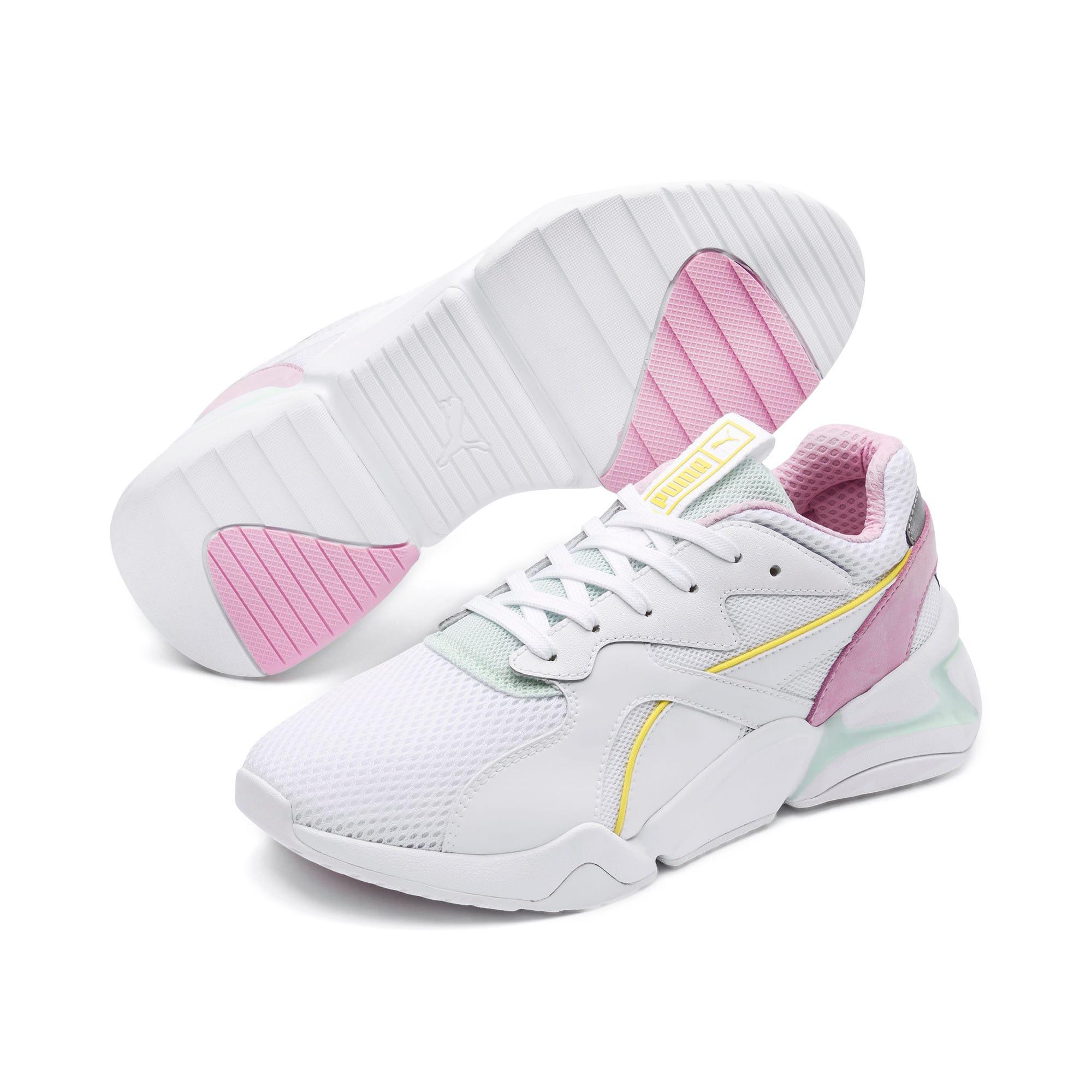 Thumbnail 3 of Nova Mesh Women's Sneakers, Puma White-Fair Aqua, medium