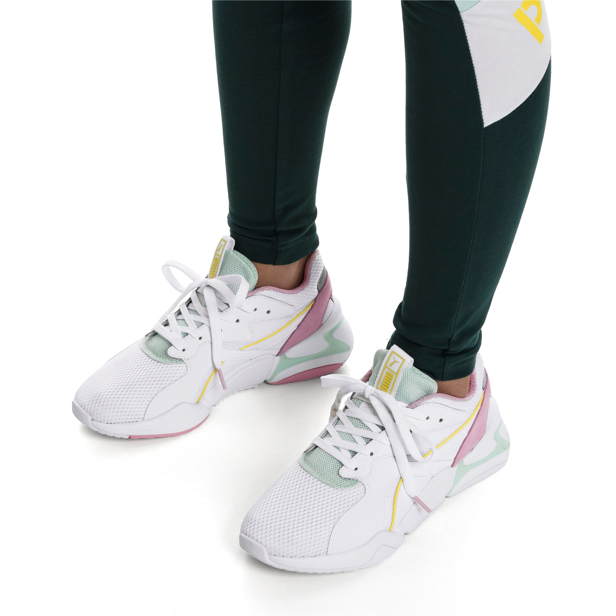 Thumbnail 2 of Nova Mesh Women's Sneakers, Puma White-Fair Aqua, medium