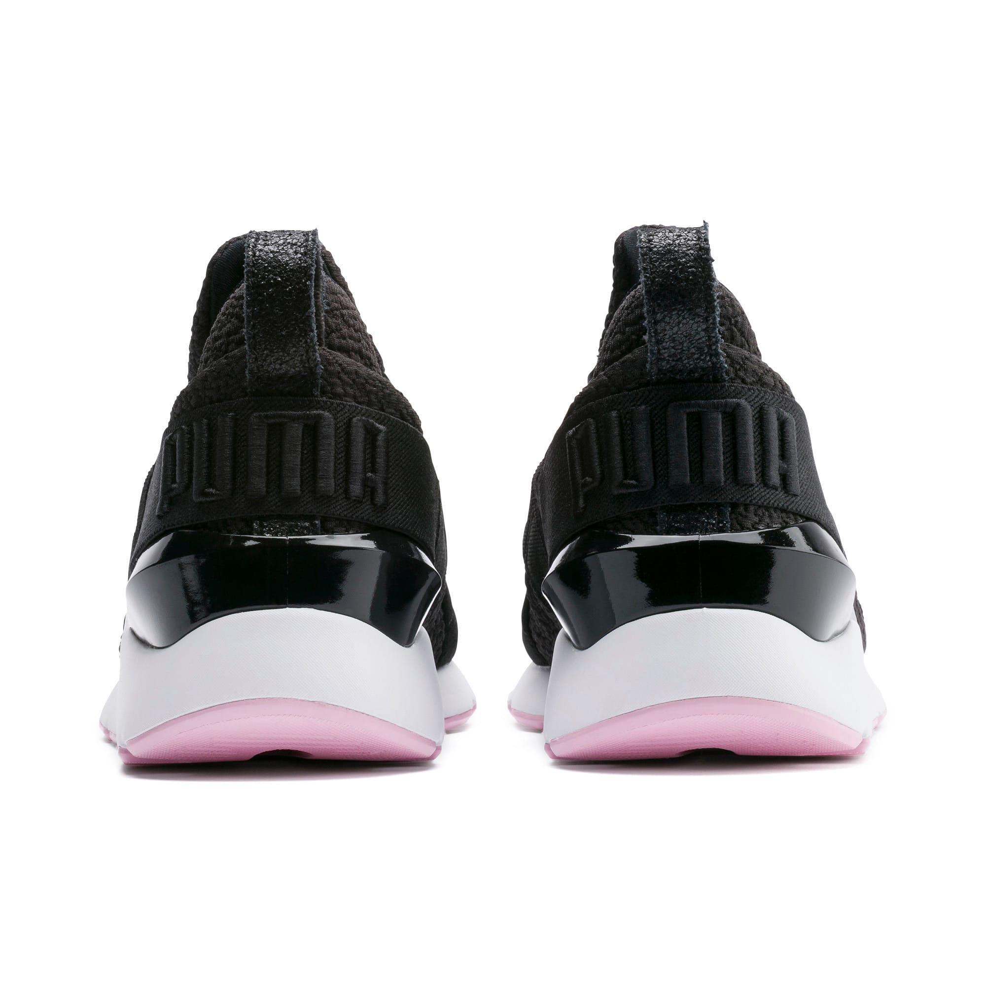 Thumbnail 3 of Muse TZ Damen Sneaker, Puma Black-Pale Pink, medium
