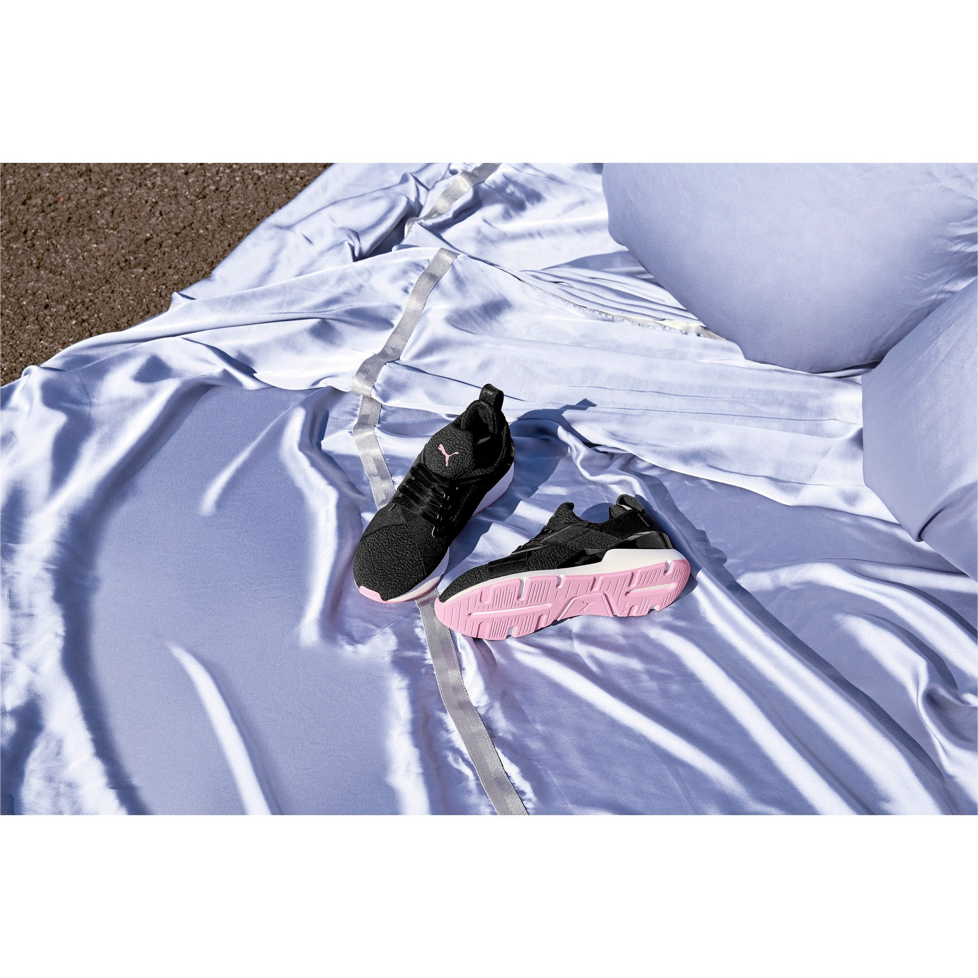 Thumbnail 7 of Muse TZ Damen Sneaker, Puma Black-Pale Pink, medium