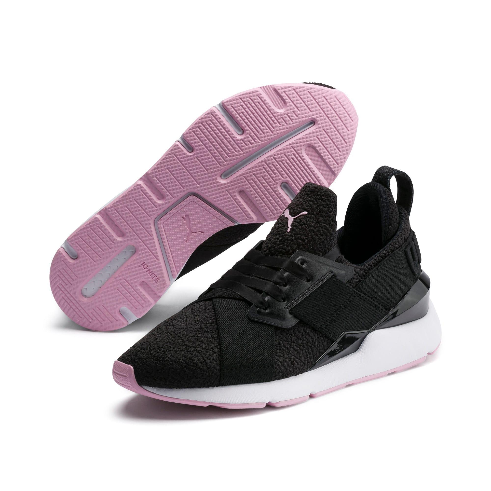 Thumbnail 2 of Muse TZ Damen Sneaker, Puma Black-Pale Pink, medium