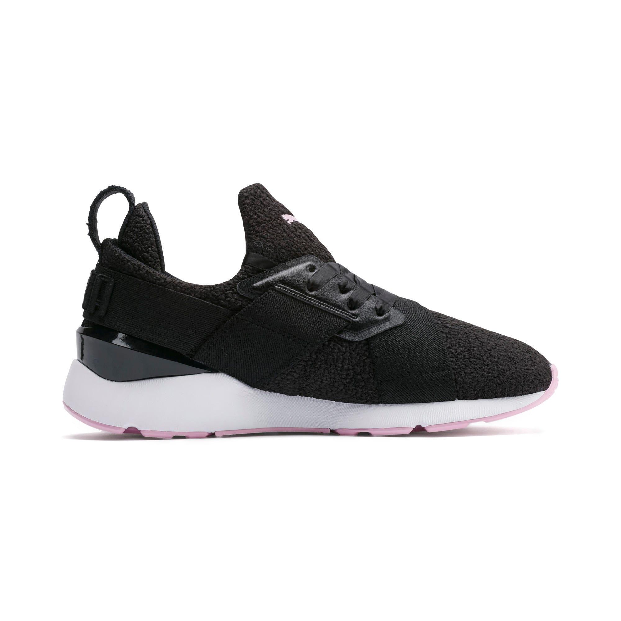 Thumbnail 5 of Muse TZ Damen Sneaker, Puma Black-Pale Pink, medium