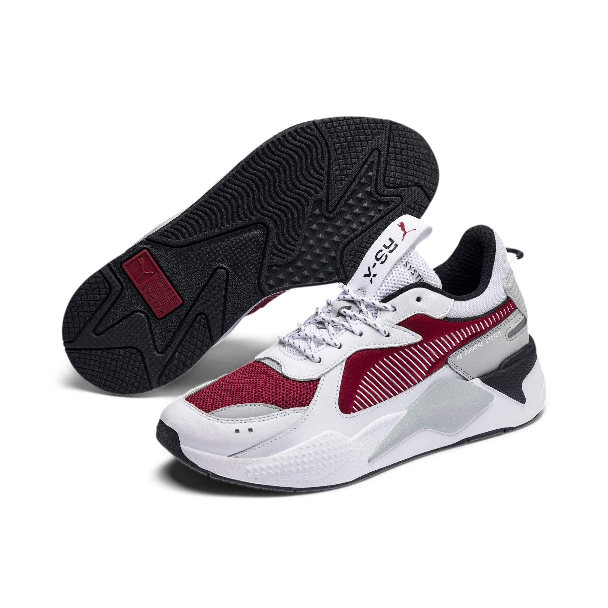 Thumbnail 3 of RS-X Trainers, Puma White-Rhubarb, medium