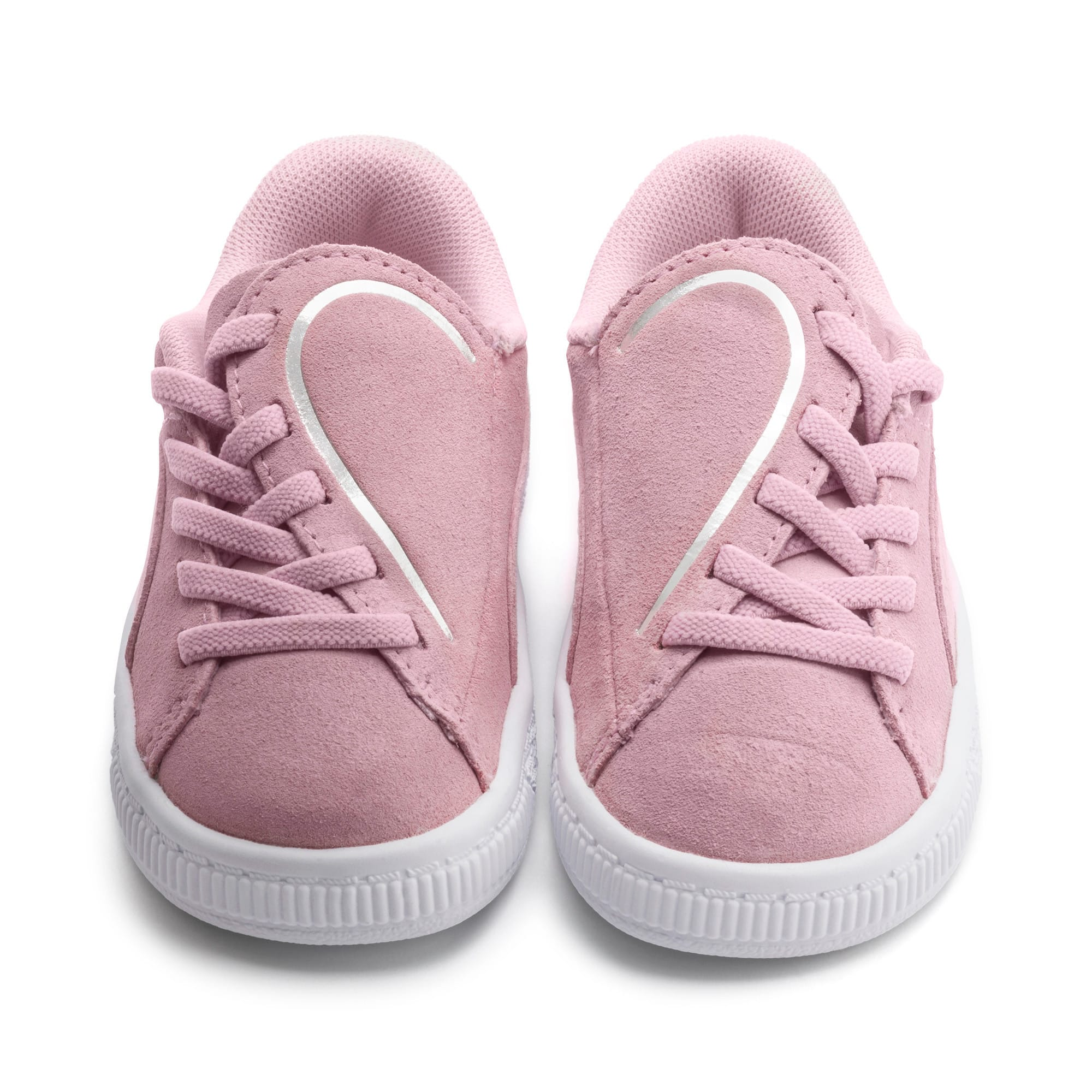 Thumbnail 7 of Suede Crush AC Toddler Shoes, Pale Pink-Puma Silver, medium