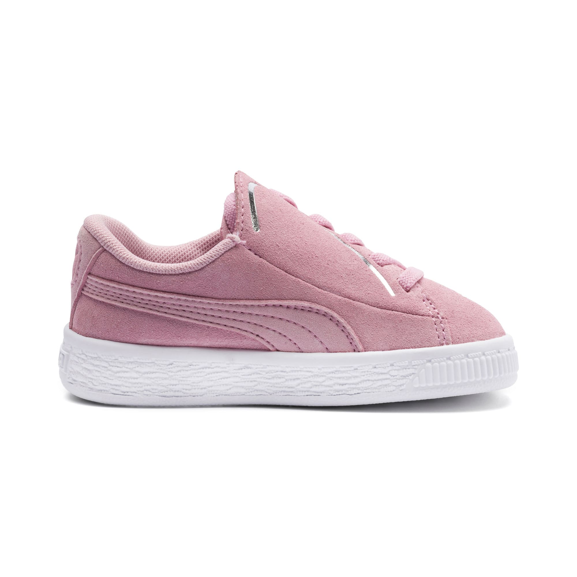 Thumbnail 5 of Suede Crush AC Toddler Shoes, Pale Pink-Puma Silver, medium
