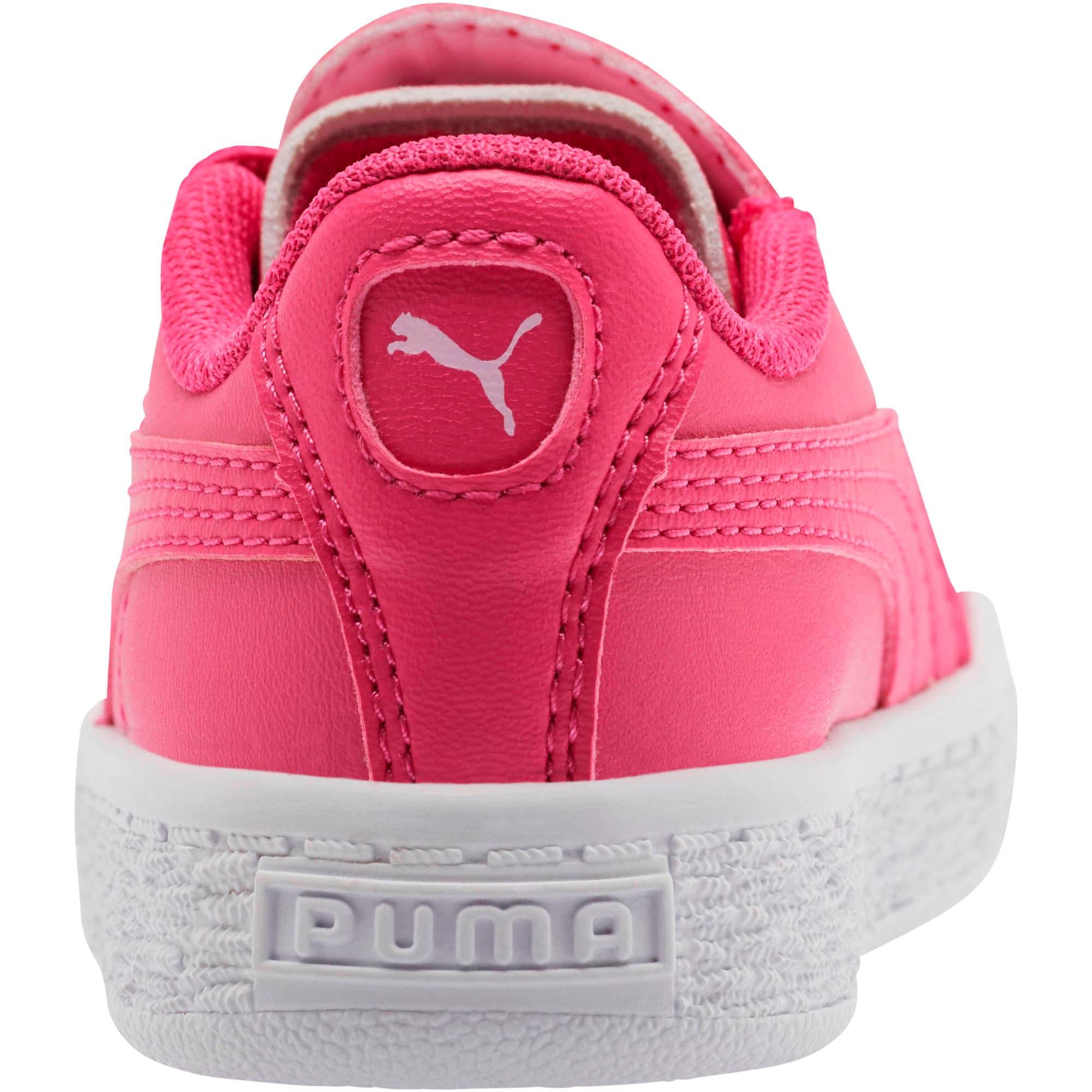 Thumbnail 4 of Basket Crush Glitter Hearts AC Toddler Shoes, Fuchsia Purple-Puma White, medium