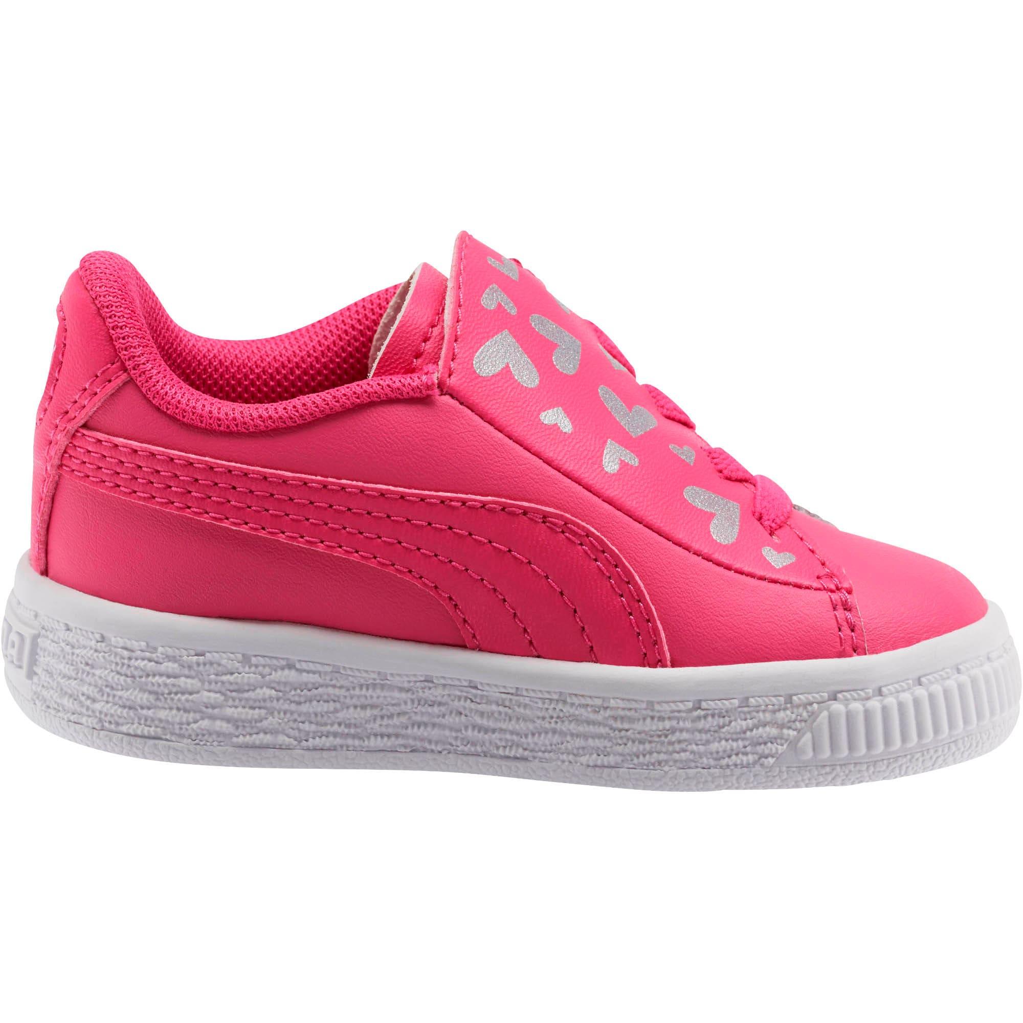Thumbnail 5 of Basket Crush Glitter Hearts AC Toddler Shoes, Fuchsia Purple-Puma White, medium