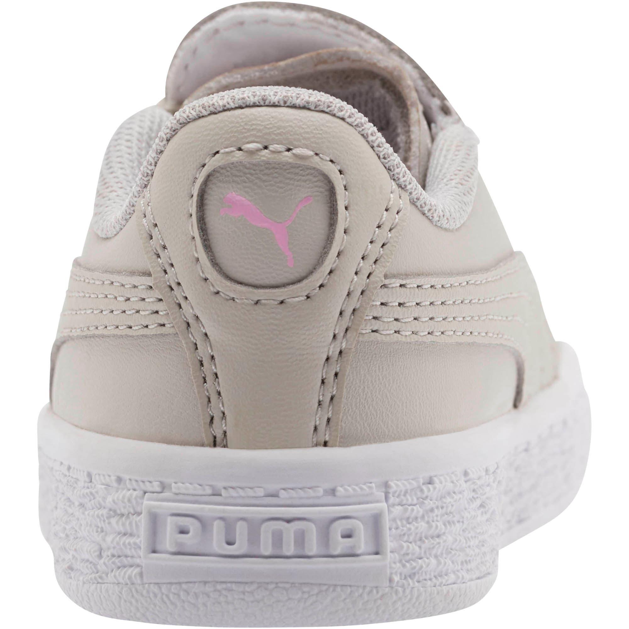 Thumbnail 3 of Basket Crush Glitter Hearts AC Toddler Shoes, Gray Violet-Puma White, medium