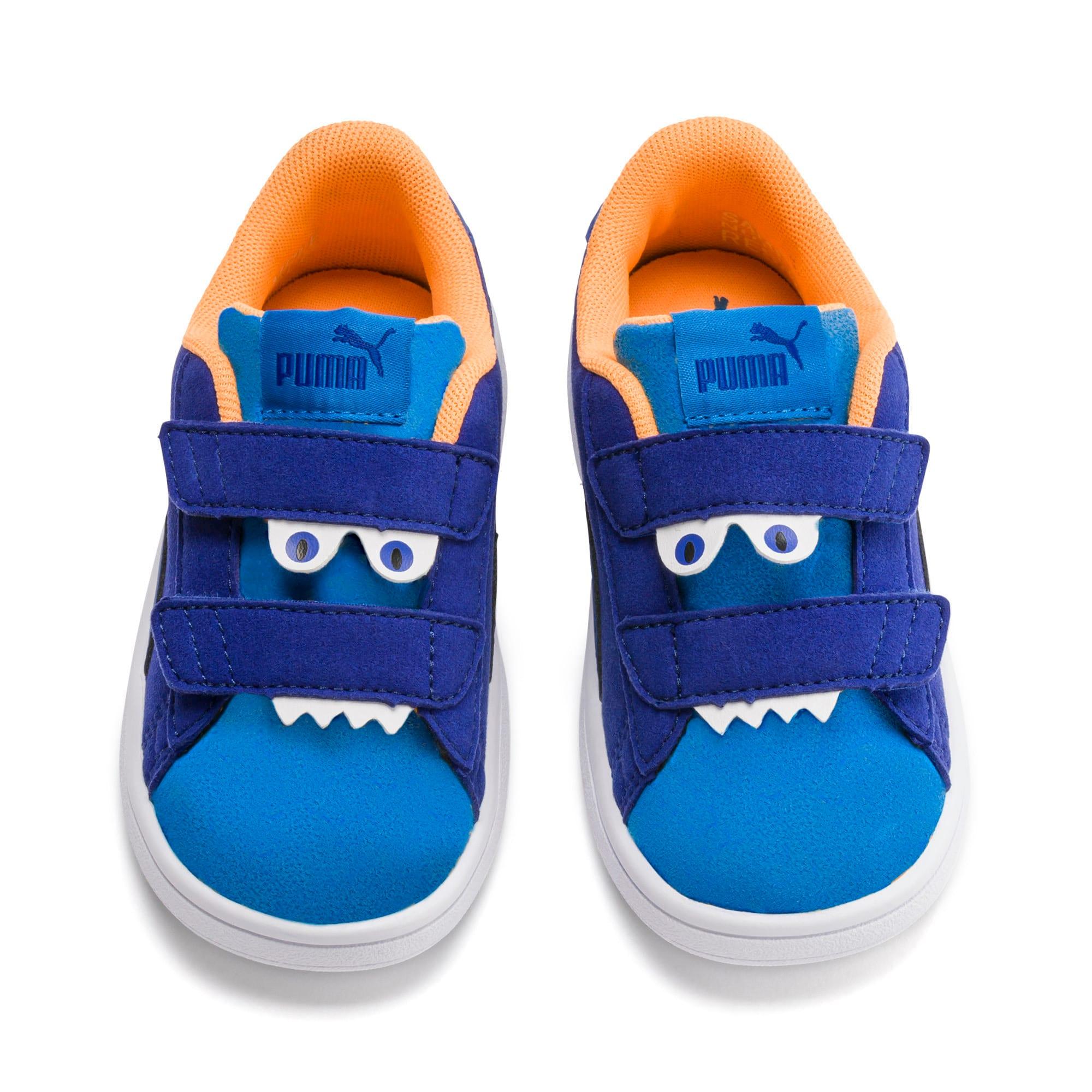 Thumbnail 7 of PUMA Smash v2 Monster Little Kids' Shoes, Sf Th Wb-I Bunting-Ornge-Wht, medium