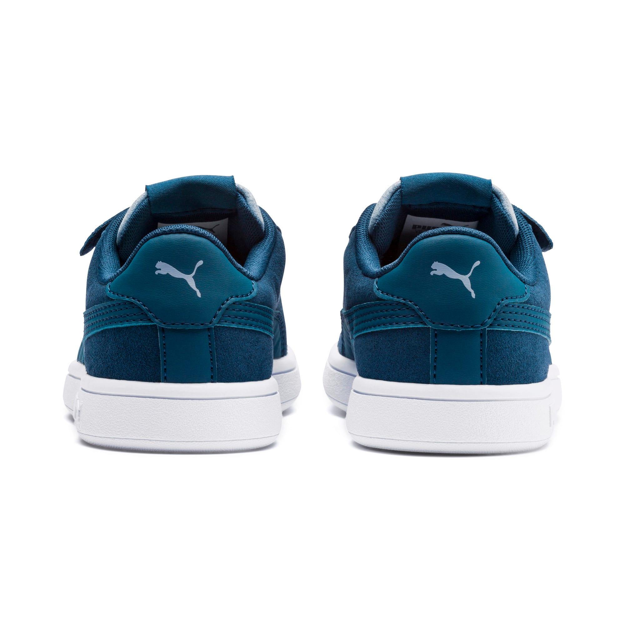 Thumbnail 3 of PUMA Smash v2 Monster Little Kids' Shoes, Gibraltar Sea-Faded Denim, medium
