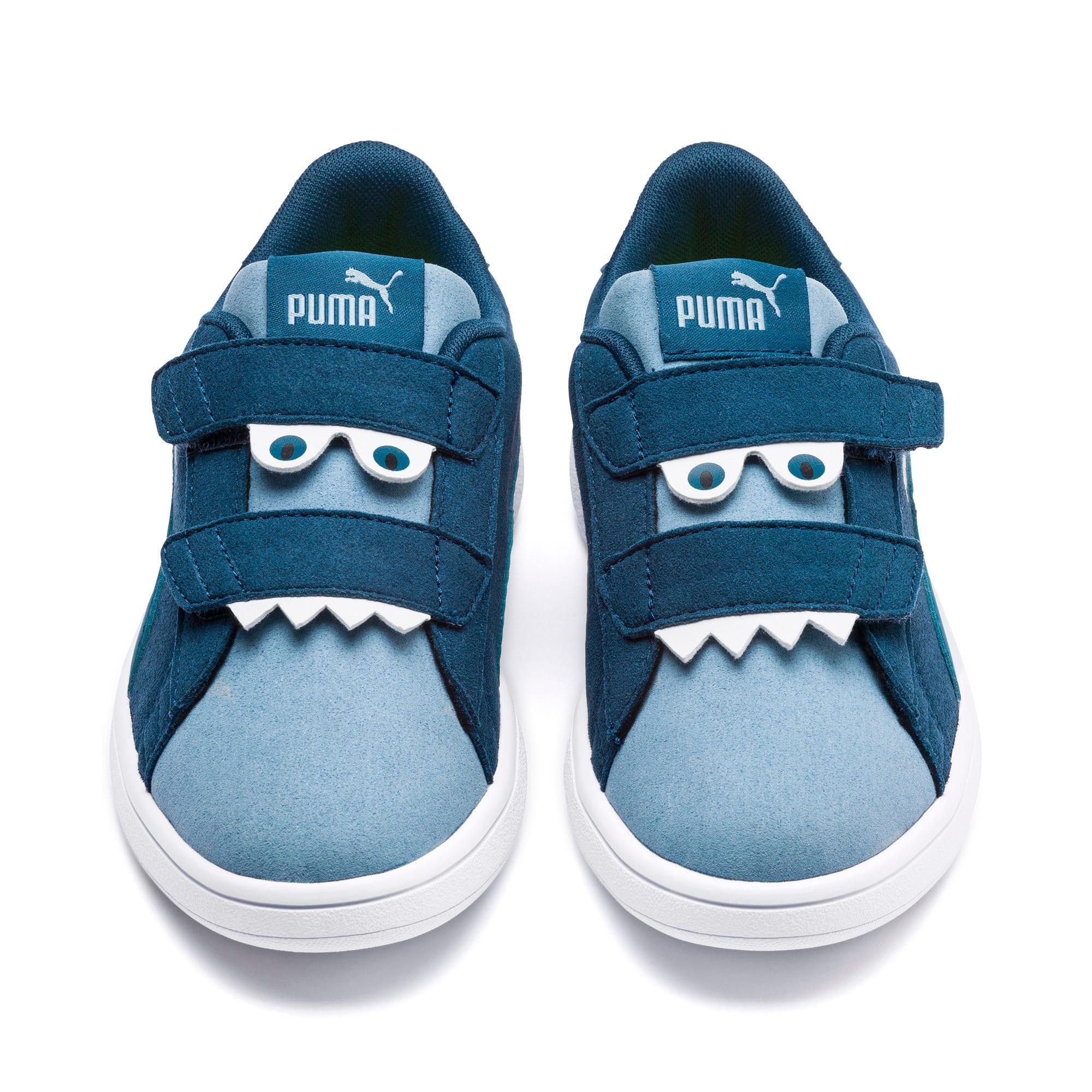 Thumbnail 7 of PUMA Smash v2 Monster Little Kids' Shoes, Gibraltar Sea-Faded Denim, medium