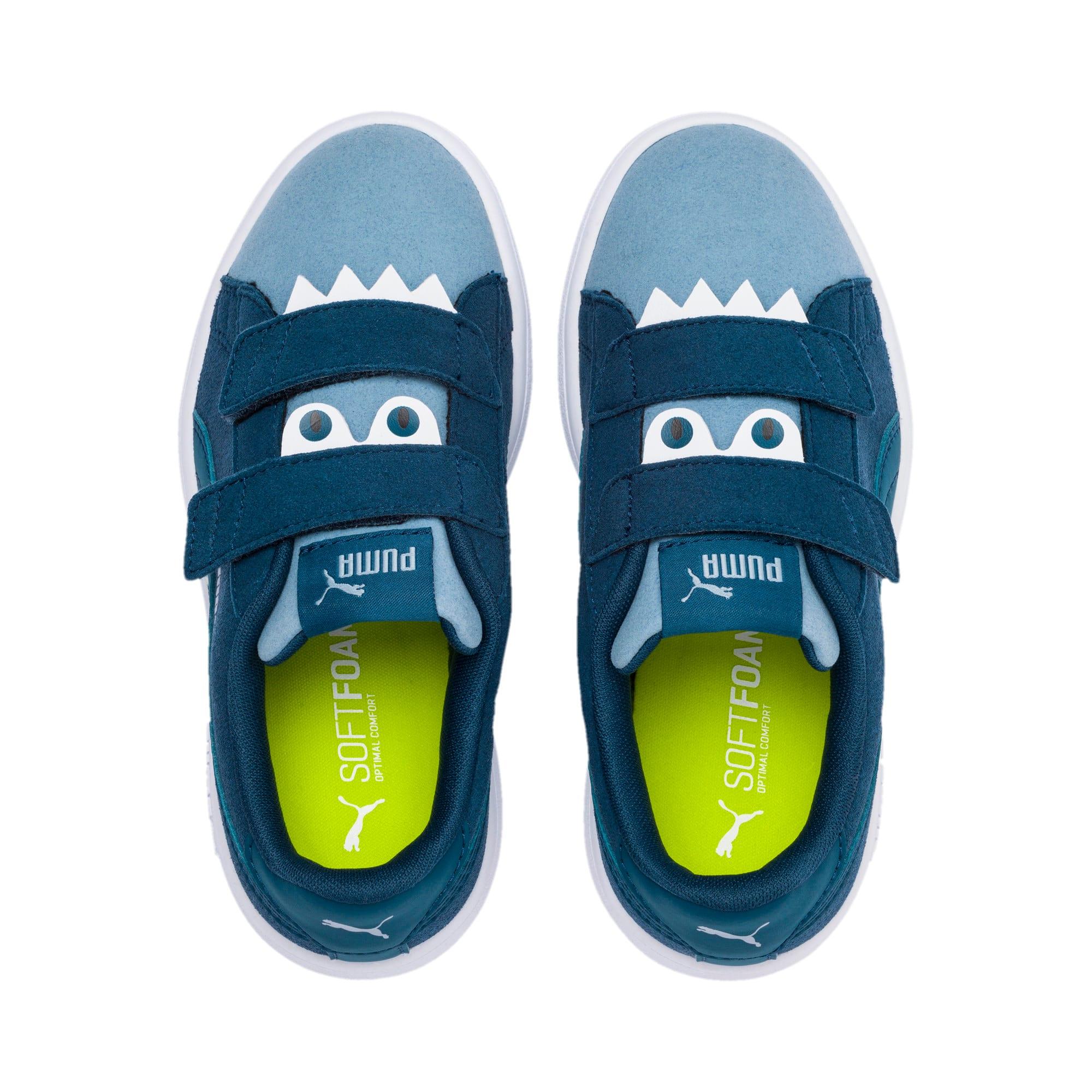Thumbnail 6 of PUMA Smash v2 Monster Little Kids' Shoes, Gibraltar Sea-Faded Denim, medium
