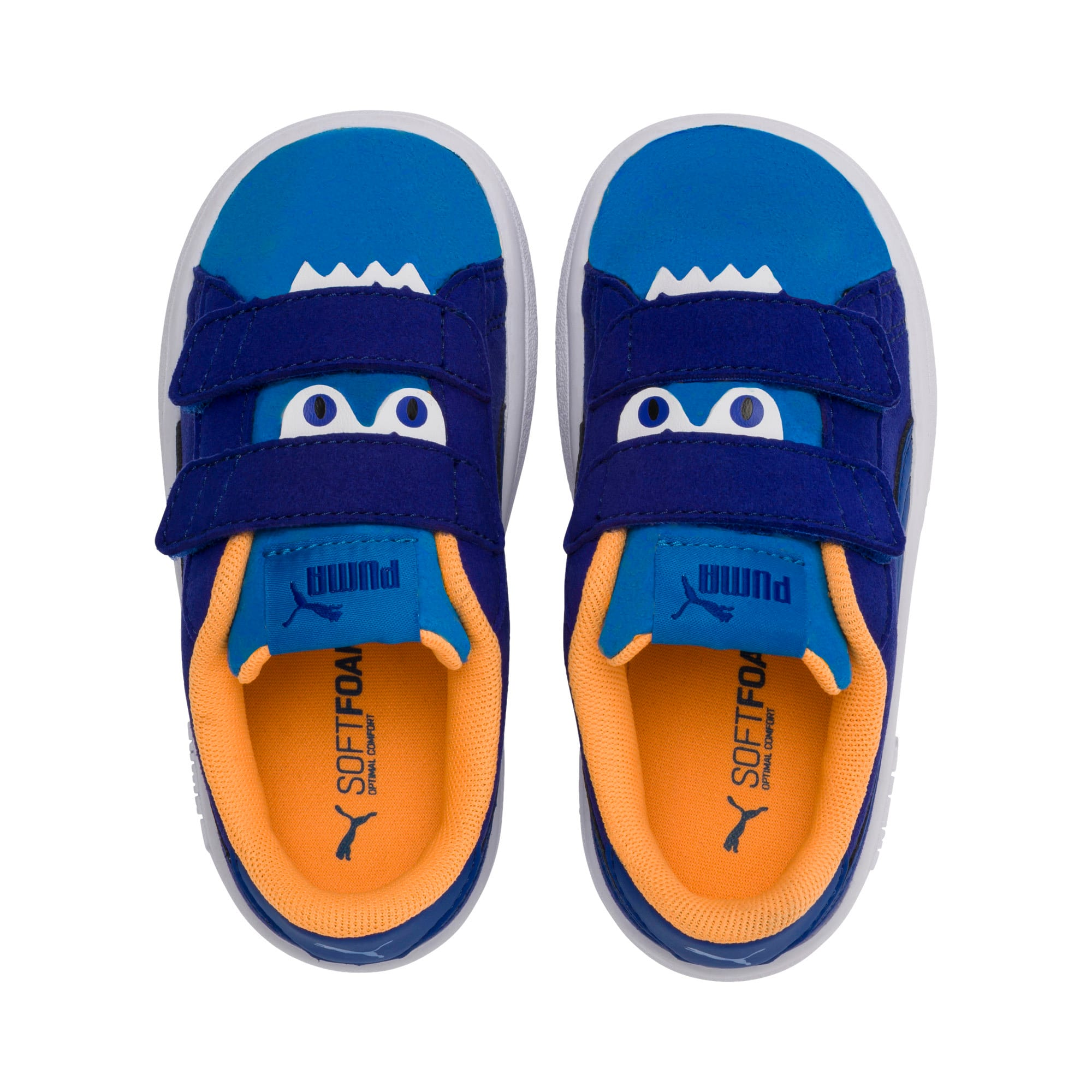 Thumbnail 6 of PUMA Smash v2 Monster Toddler Shoes, Sf Th Wb-I Bunting-Ornge-Wht, medium