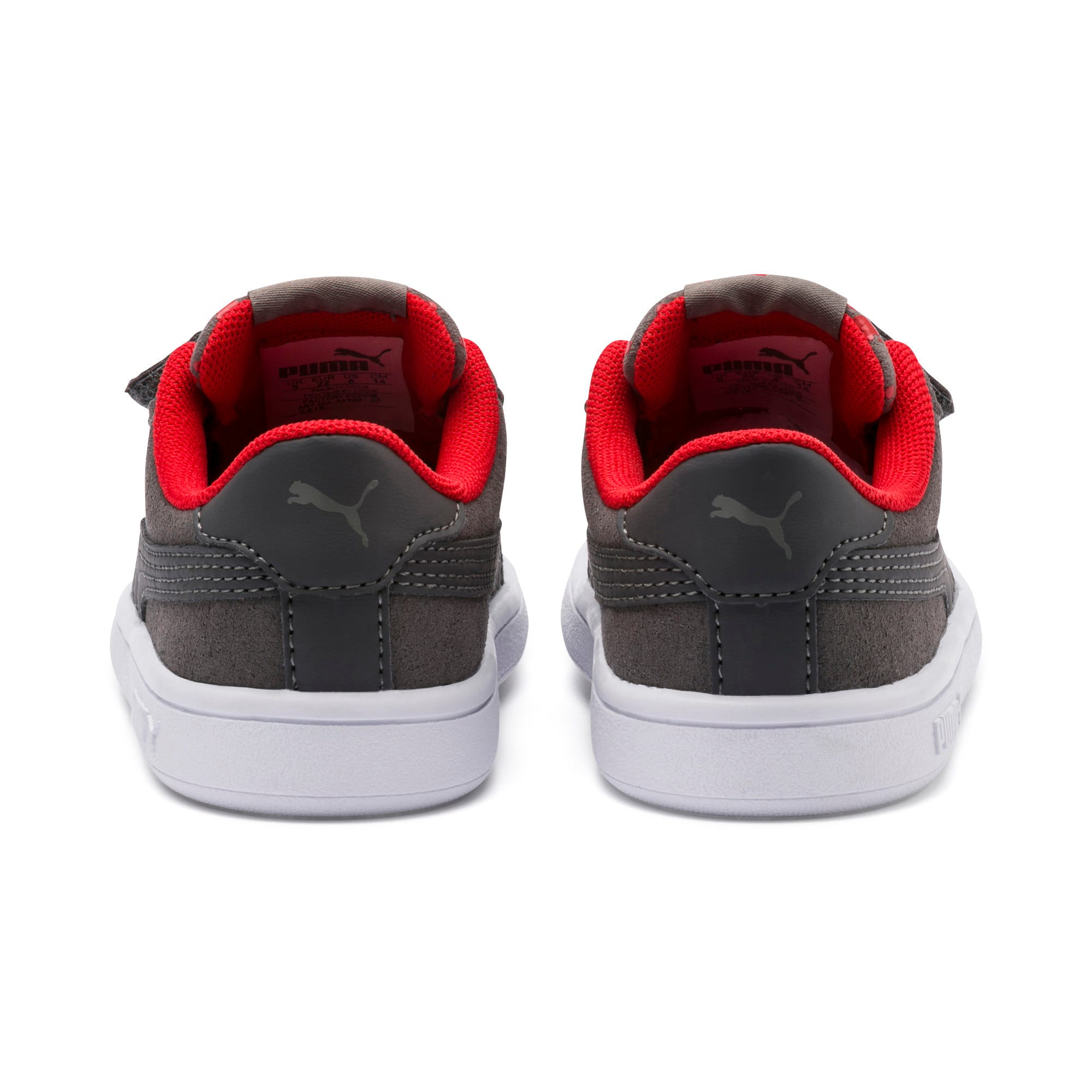 Thumbnail 3 of PUMA Smash v2 Monster Toddler Shoes, Asphalt-C. Gray-Red-White, medium