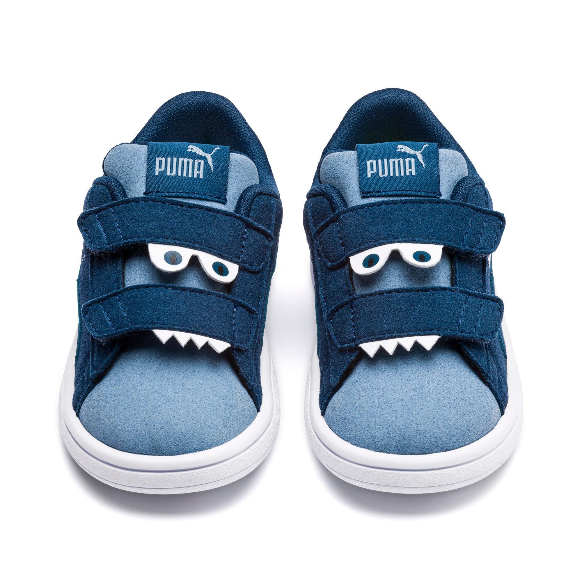 Thumbnail 2 of PUMA Smash v2 Monster Toddler Shoes, Gibraltar Sea-Faded Denim, medium