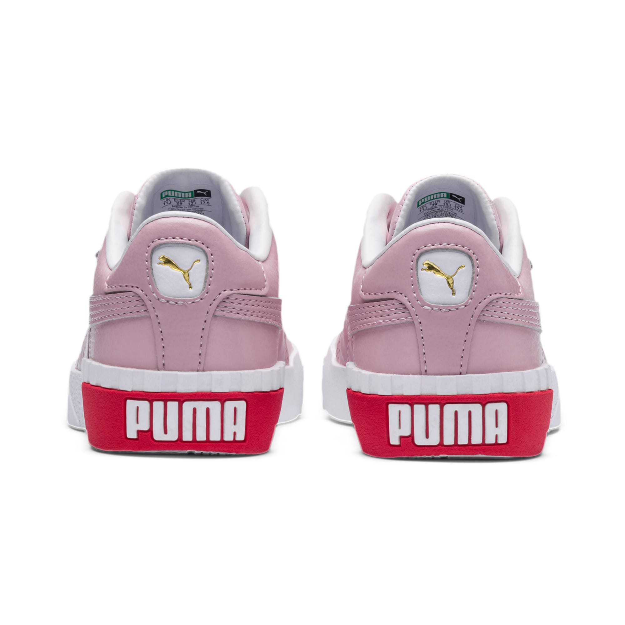 Thumbnail 3 of Cali Little Kids' Shoes, Puma White-Hibiscus, medium
