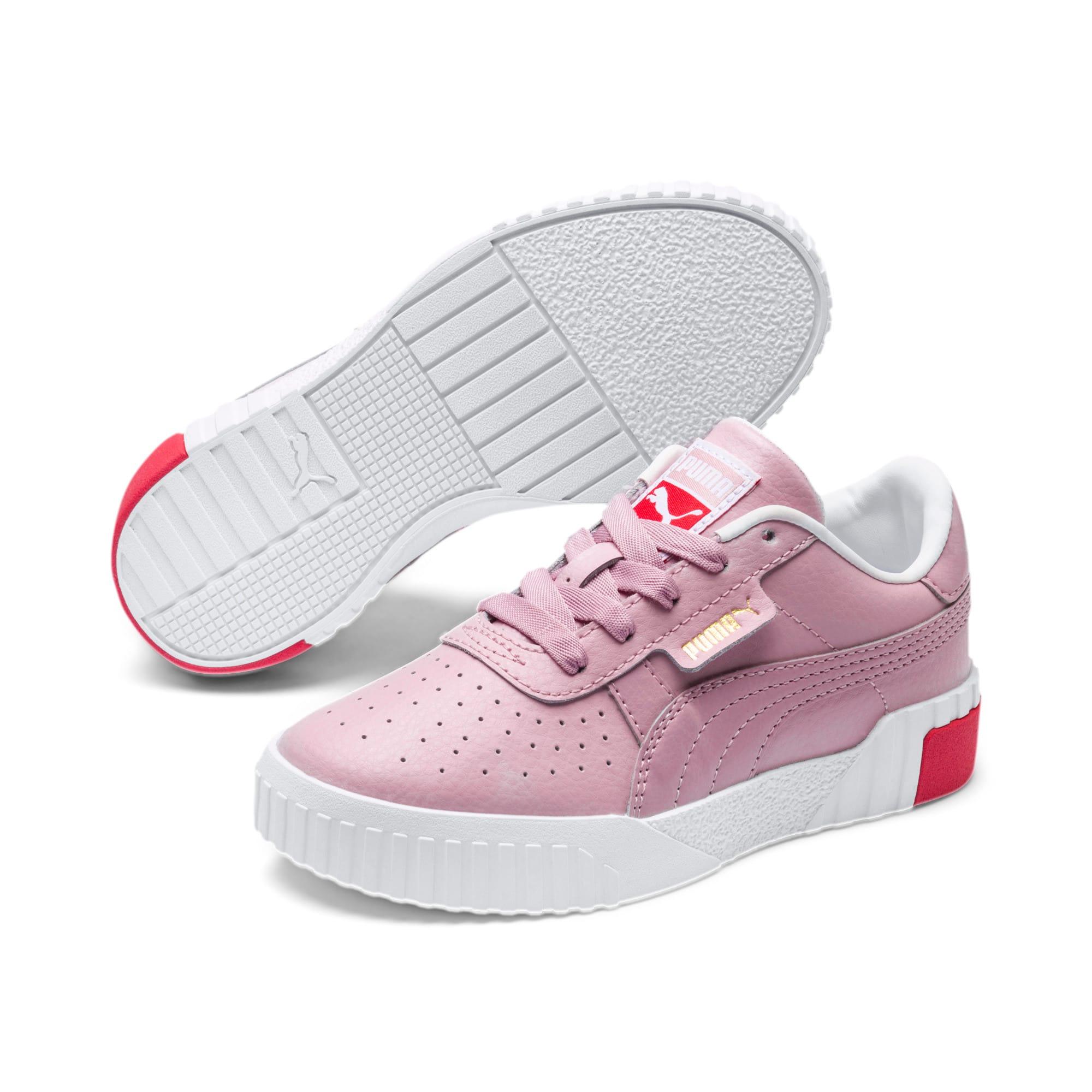 Thumbnail 2 of Cali Little Kids' Shoes, Puma White-Hibiscus, medium