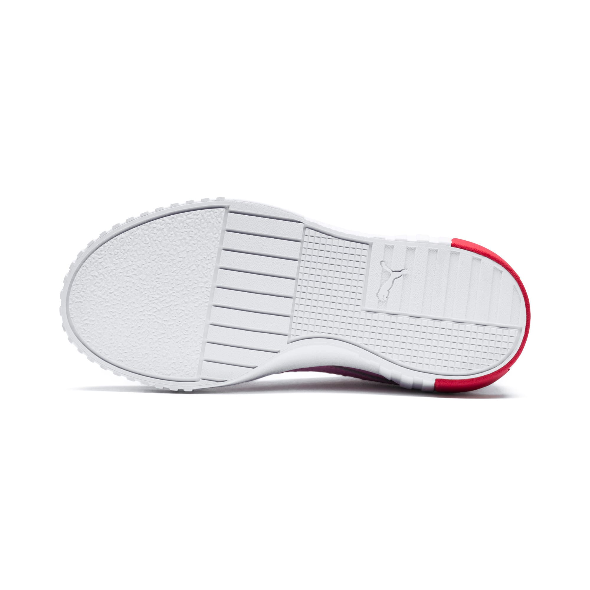 Thumbnail 4 of Cali Girls' Trainers, Puma White-Hibiscus, medium