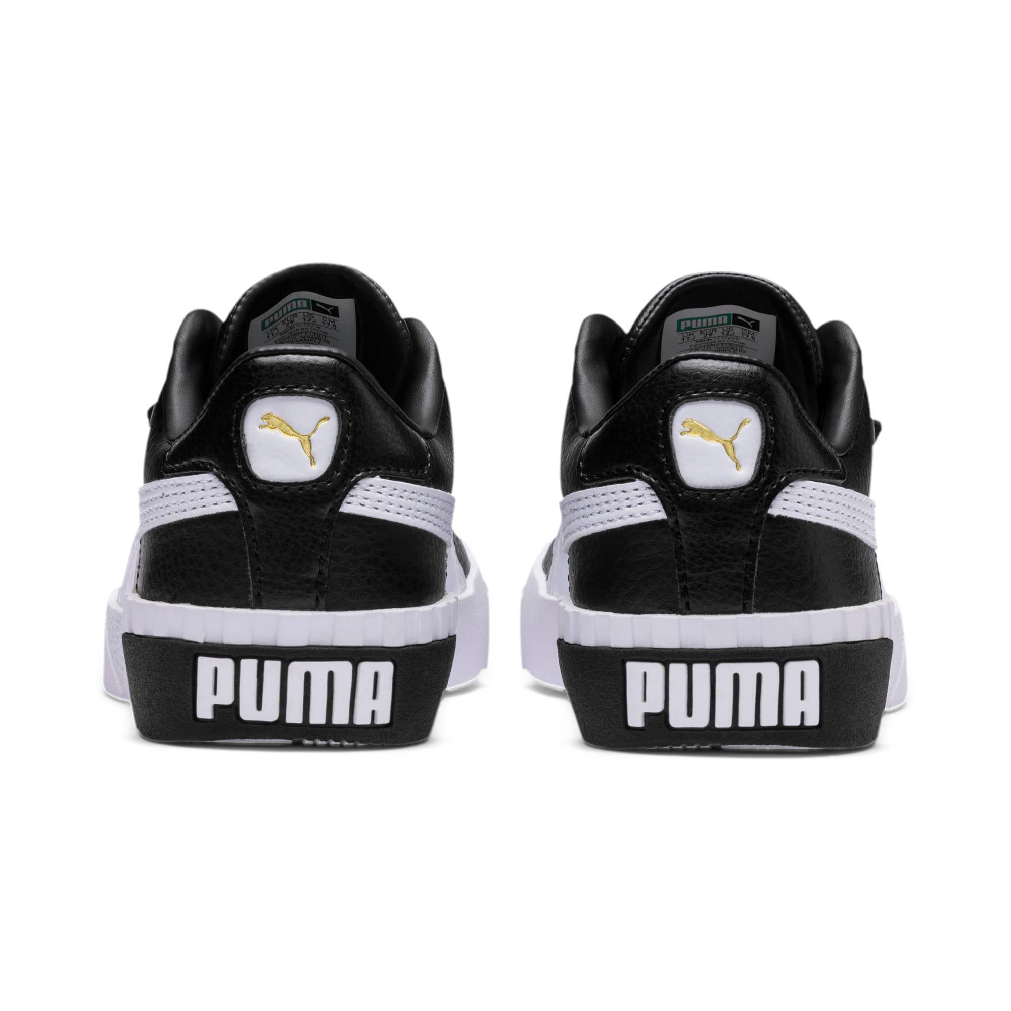 Imagen en miniatura 3 de Zapatillas Cali de niña, Puma Black-Puma Team Gold, mediana