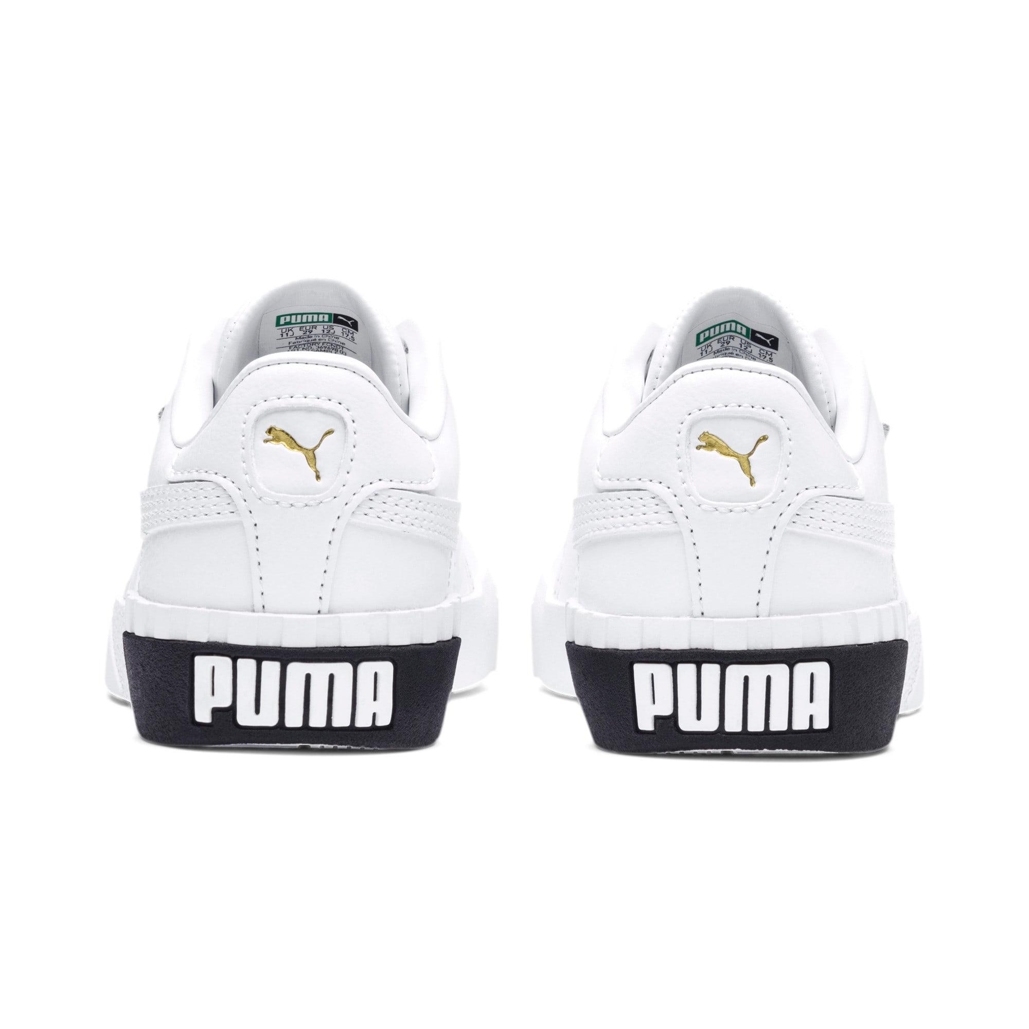 Anteprima 3 di Cali Girls' Trainers, Puma White-Puma Black, medio