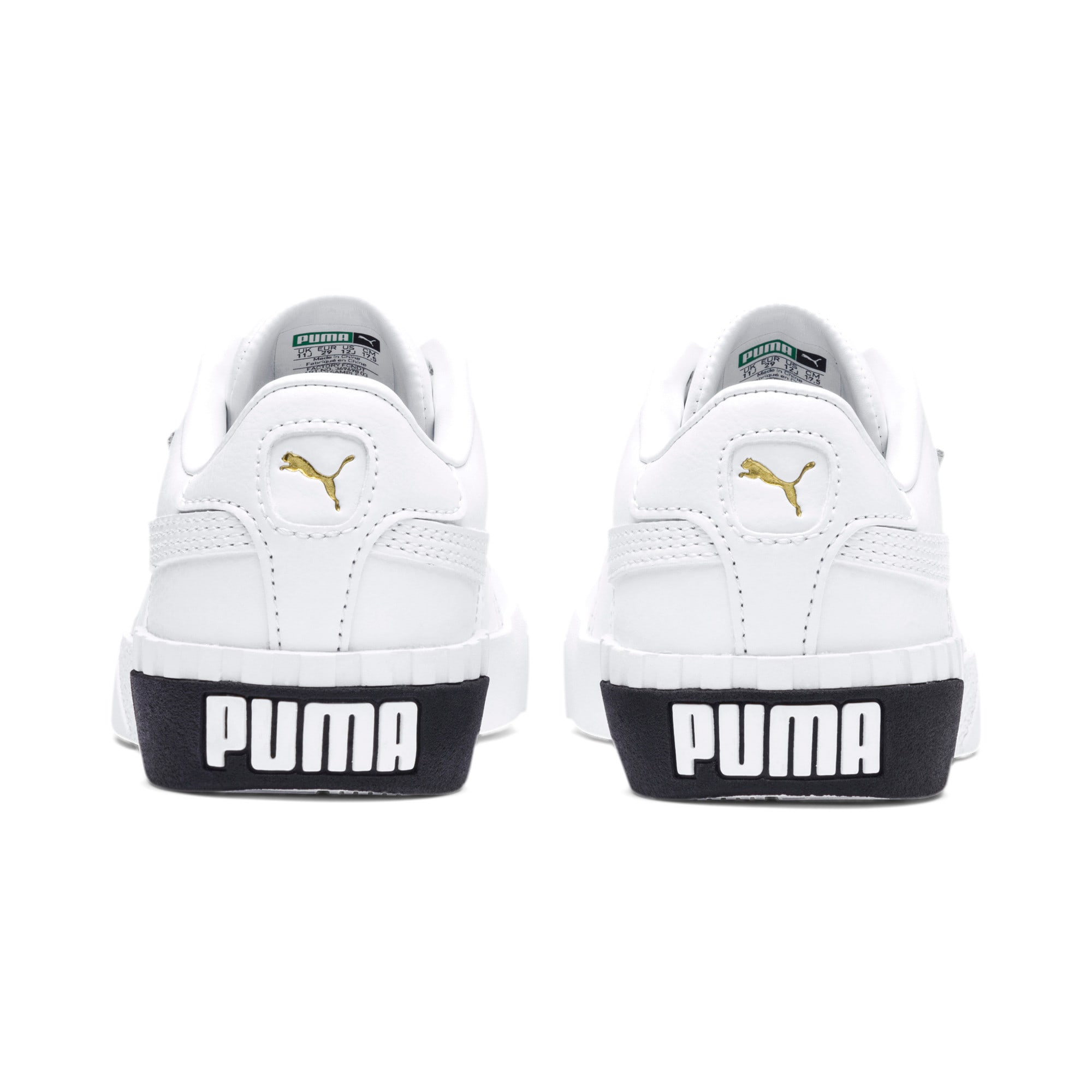 Thumbnail 3 of Cali Girls' Trainers, Puma White-Puma Black, medium