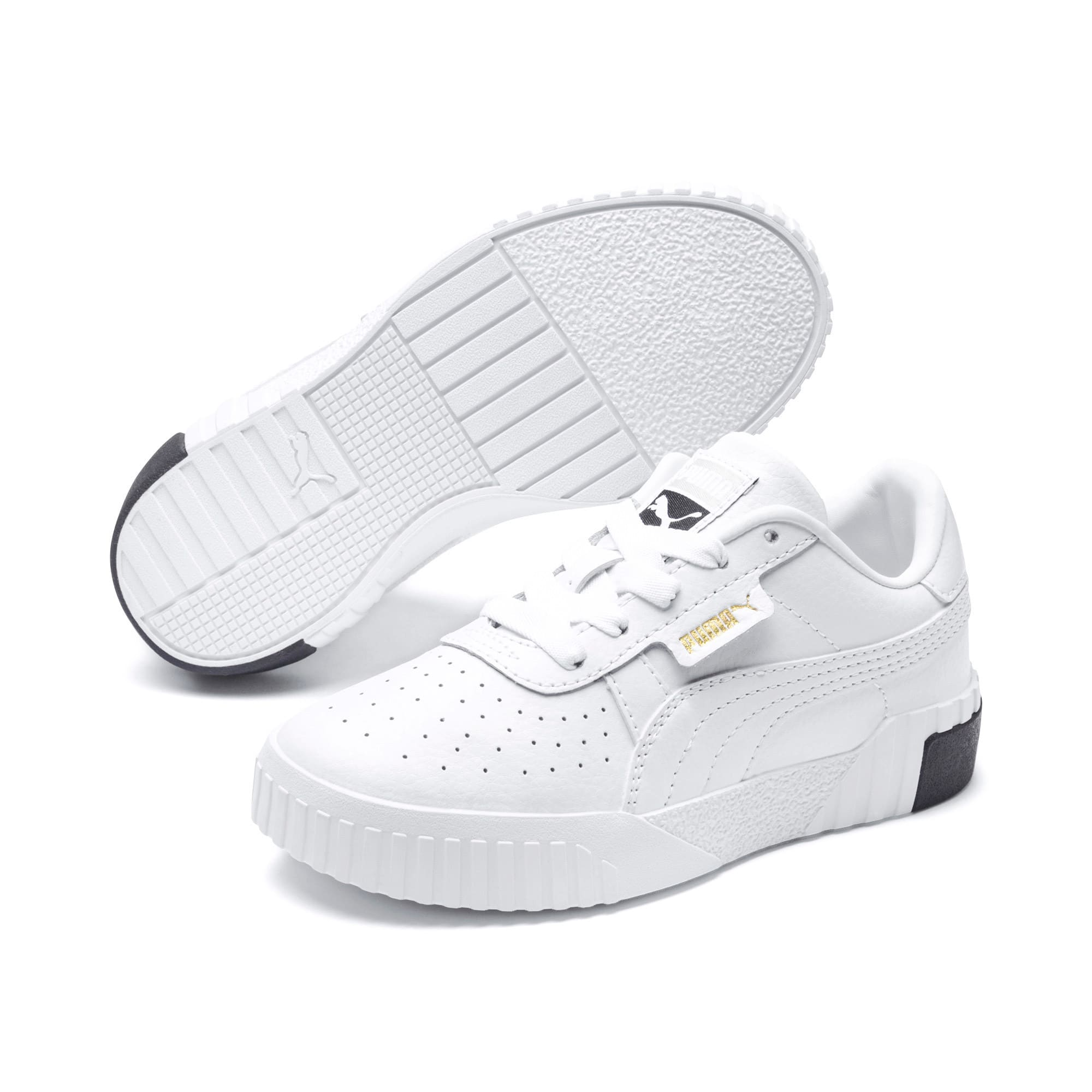 Thumbnail 2 of Cali Little Kids' Shoes, Puma White-Puma Black, medium