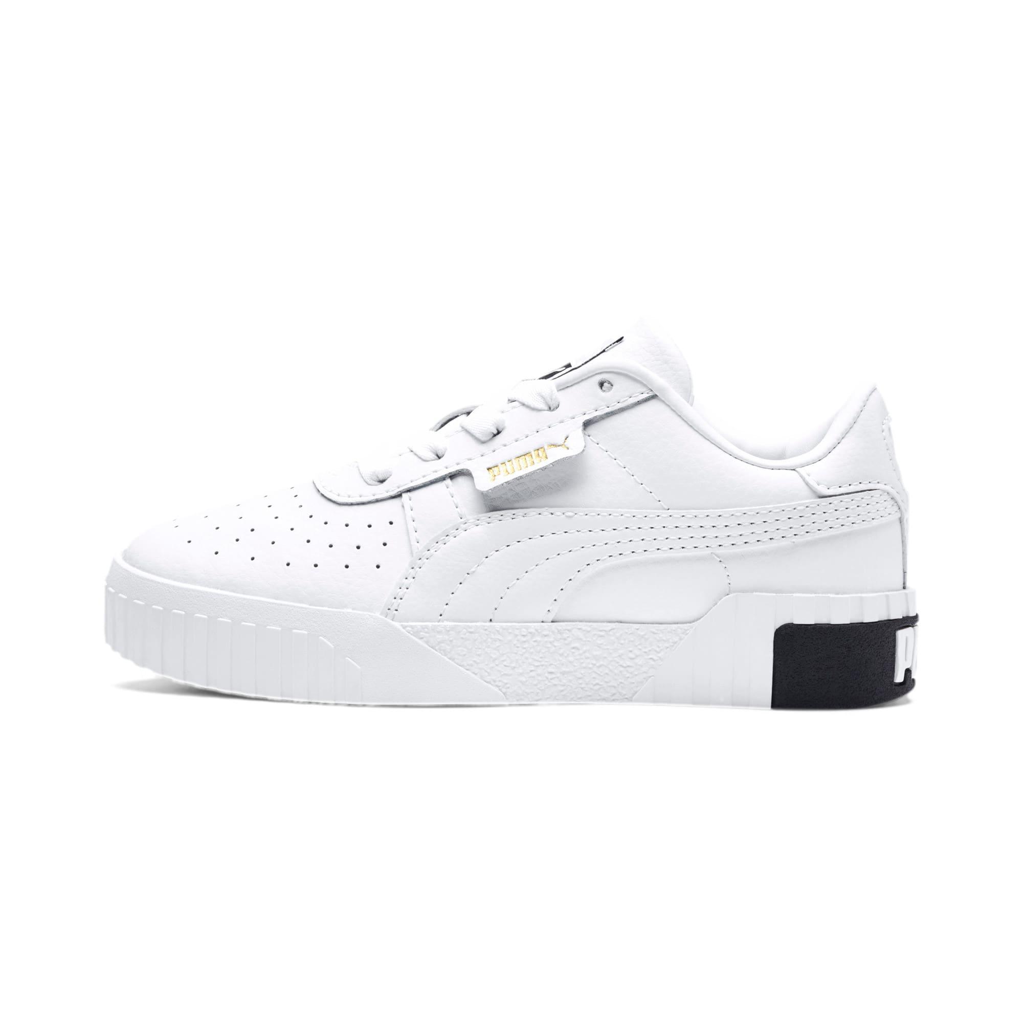 Thumbnail 1 of Cali Kids' Mädchen Sneaker, Puma White-Puma Black, medium
