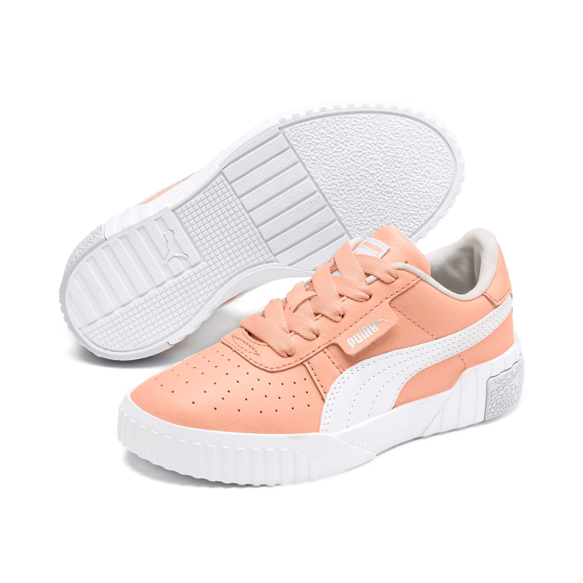 Thumbnail 2 of Cali Girls' Trainers, Peach Parfait-Heather, medium