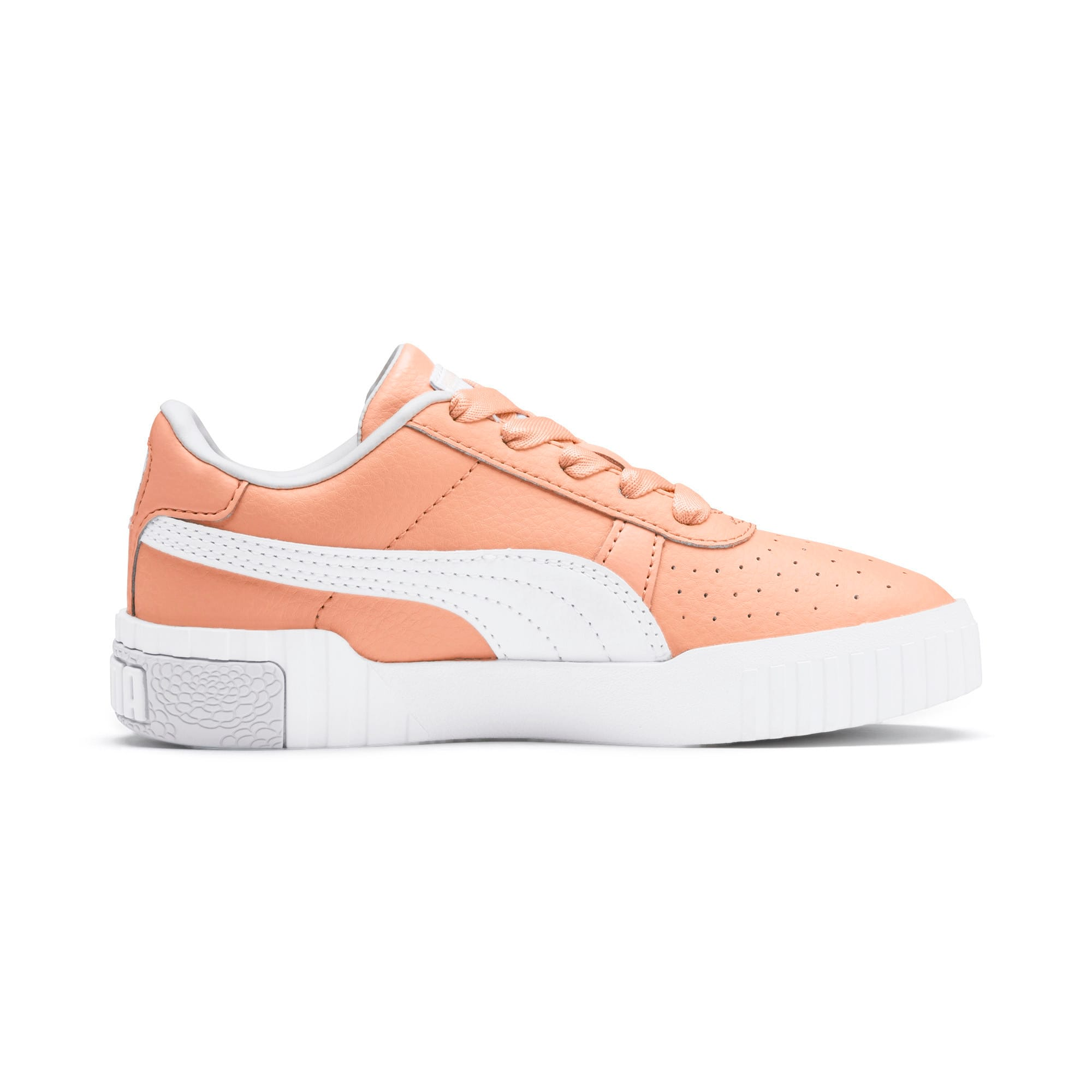 Thumbnail 5 of Cali Girls' Trainers, Peach Parfait-Heather, medium