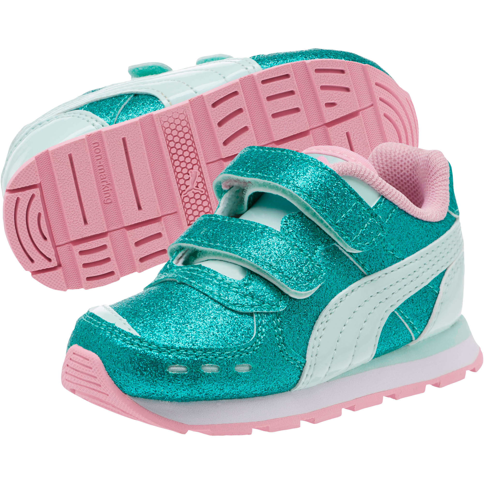 Thumbnail 2 of Vista Glitz Toddler Shoes, Fair Aqua-Pale Pink, medium