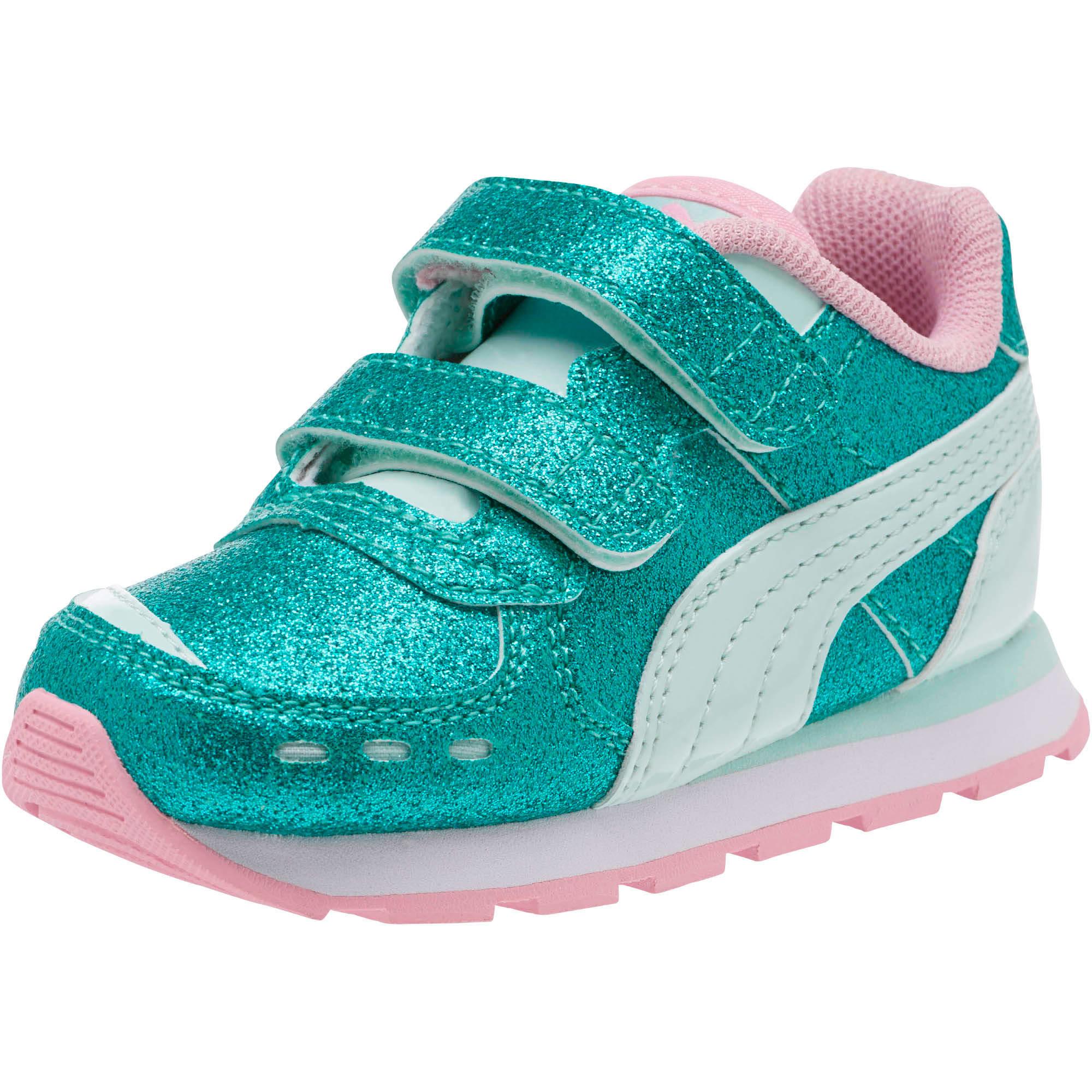 Miniatura 1 de Zapatos Vista Glitz para bebés, Fair Aqua-Pale Pink, mediano