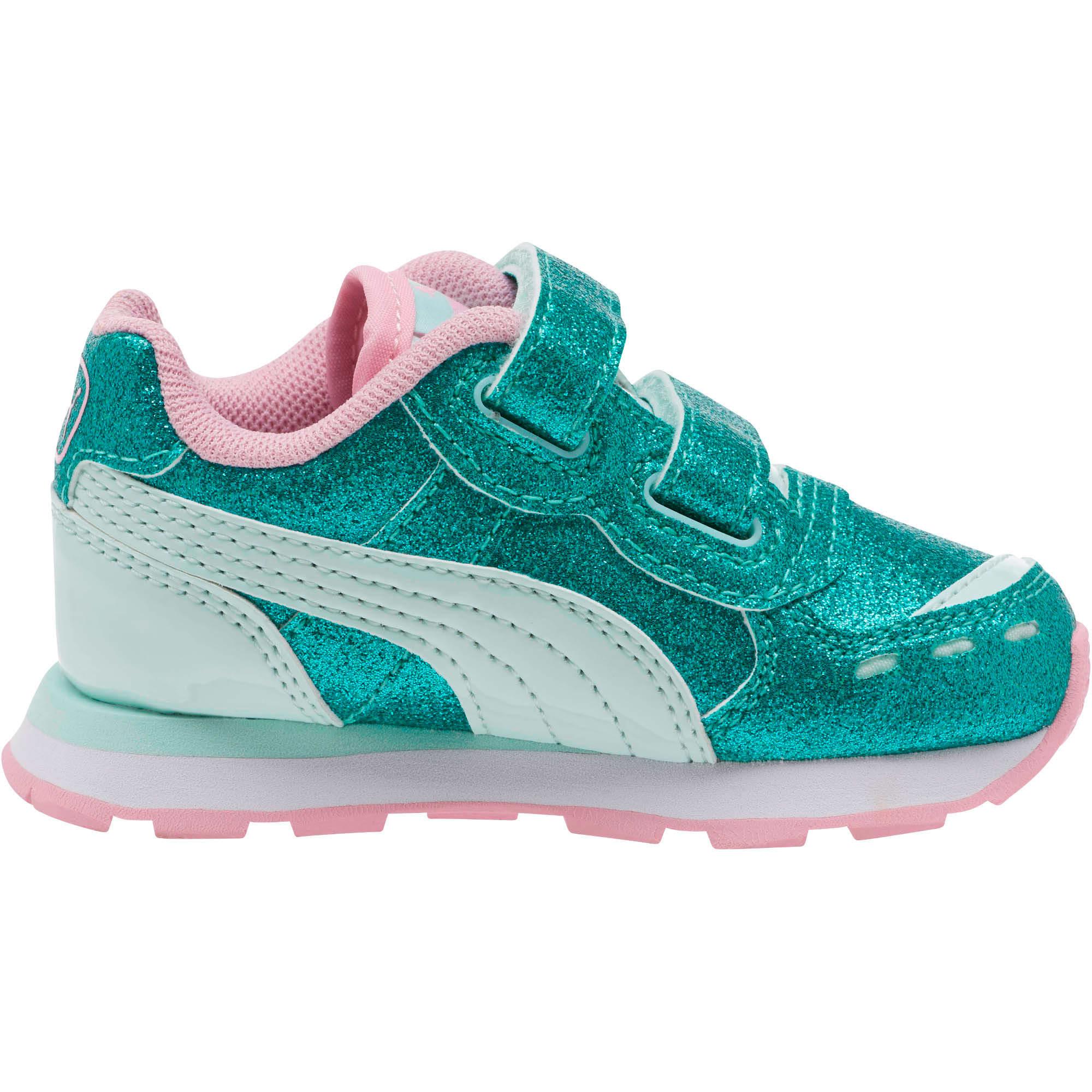 Miniatura 3 de Zapatos Vista Glitz para bebés, Fair Aqua-Pale Pink, mediano