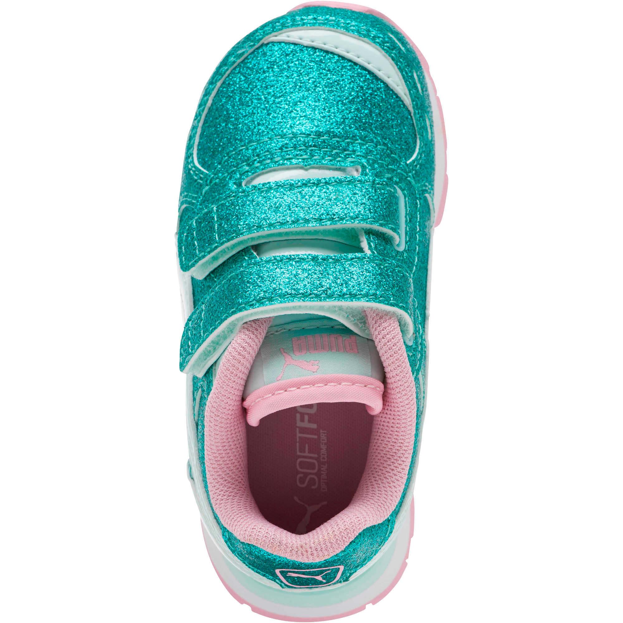 Miniatura 5 de Zapatos Vista Glitz para bebés, Fair Aqua-Pale Pink, mediano