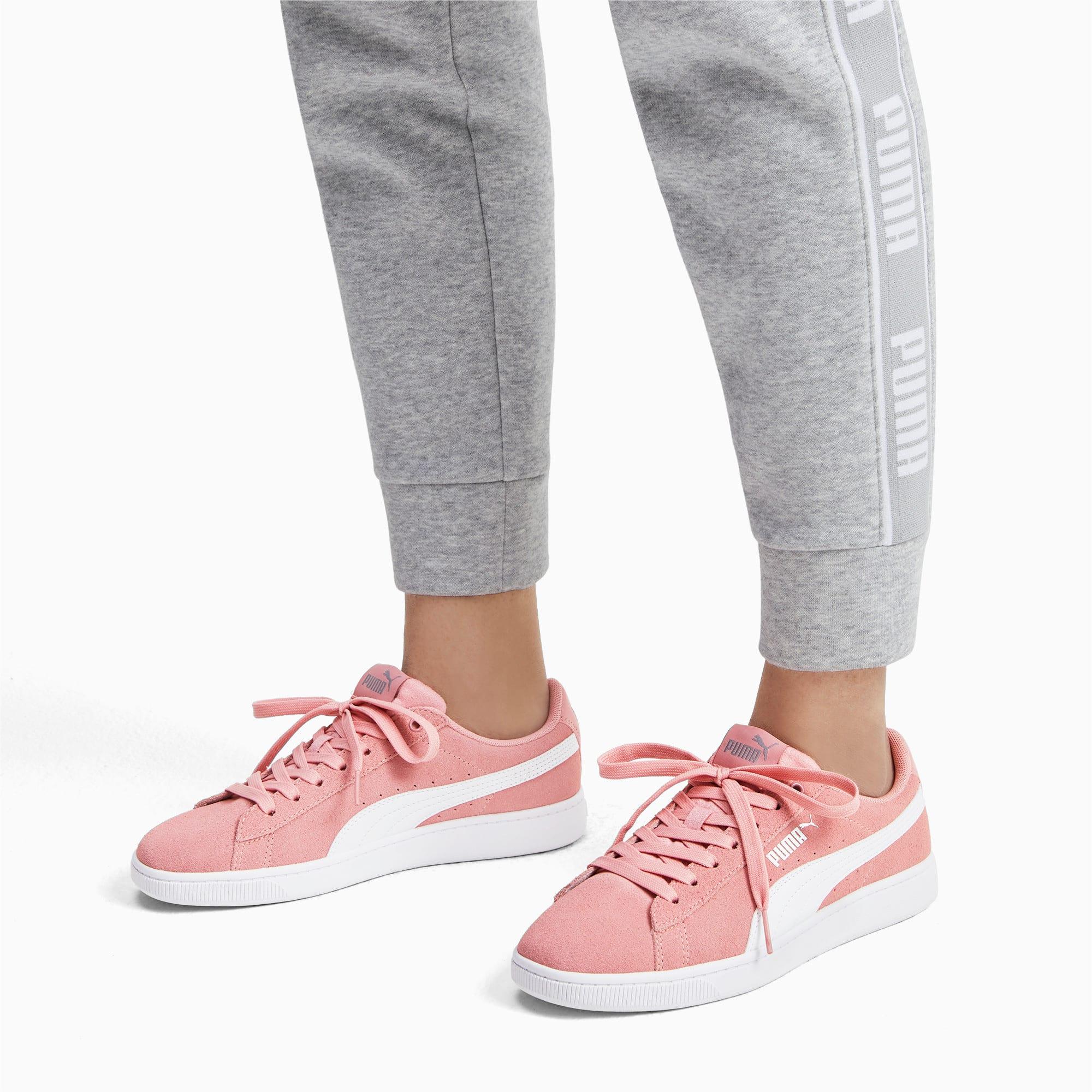 Thumbnail 3 of PUMA Vikky v2 Women's Sneakers, Bridal Rose-White-Silver, medium