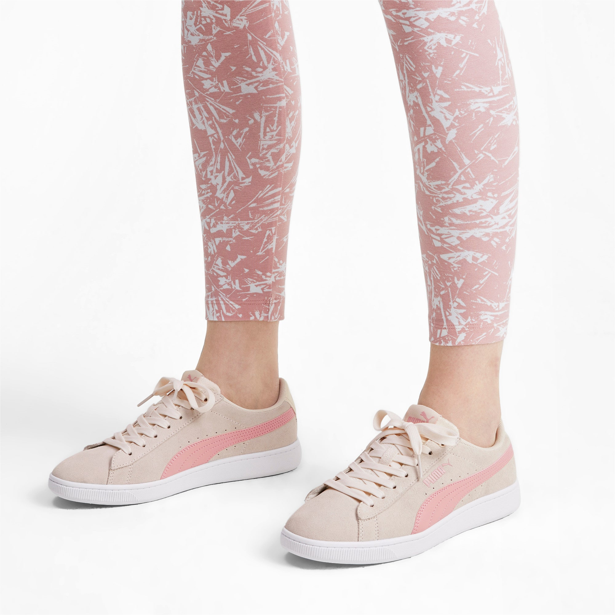 Thumbnail 3 of PUMA Vikky v2 Women's Sneakers, P Parchment-B Rose-White, medium
