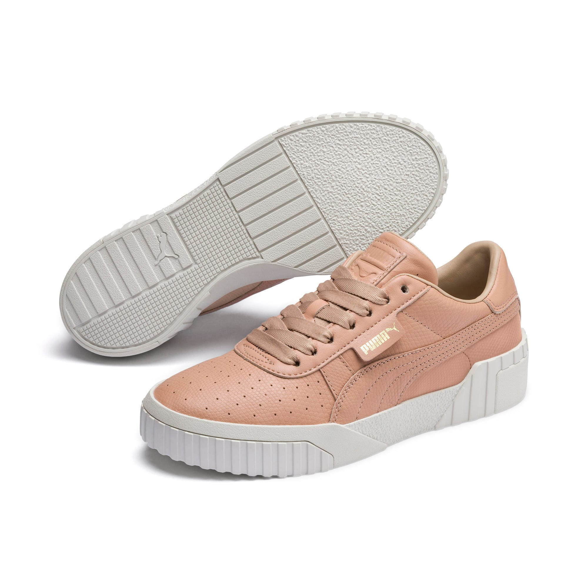 Thumbnail 3 of Cali Emboss Women's Trainers, Nougat, medium