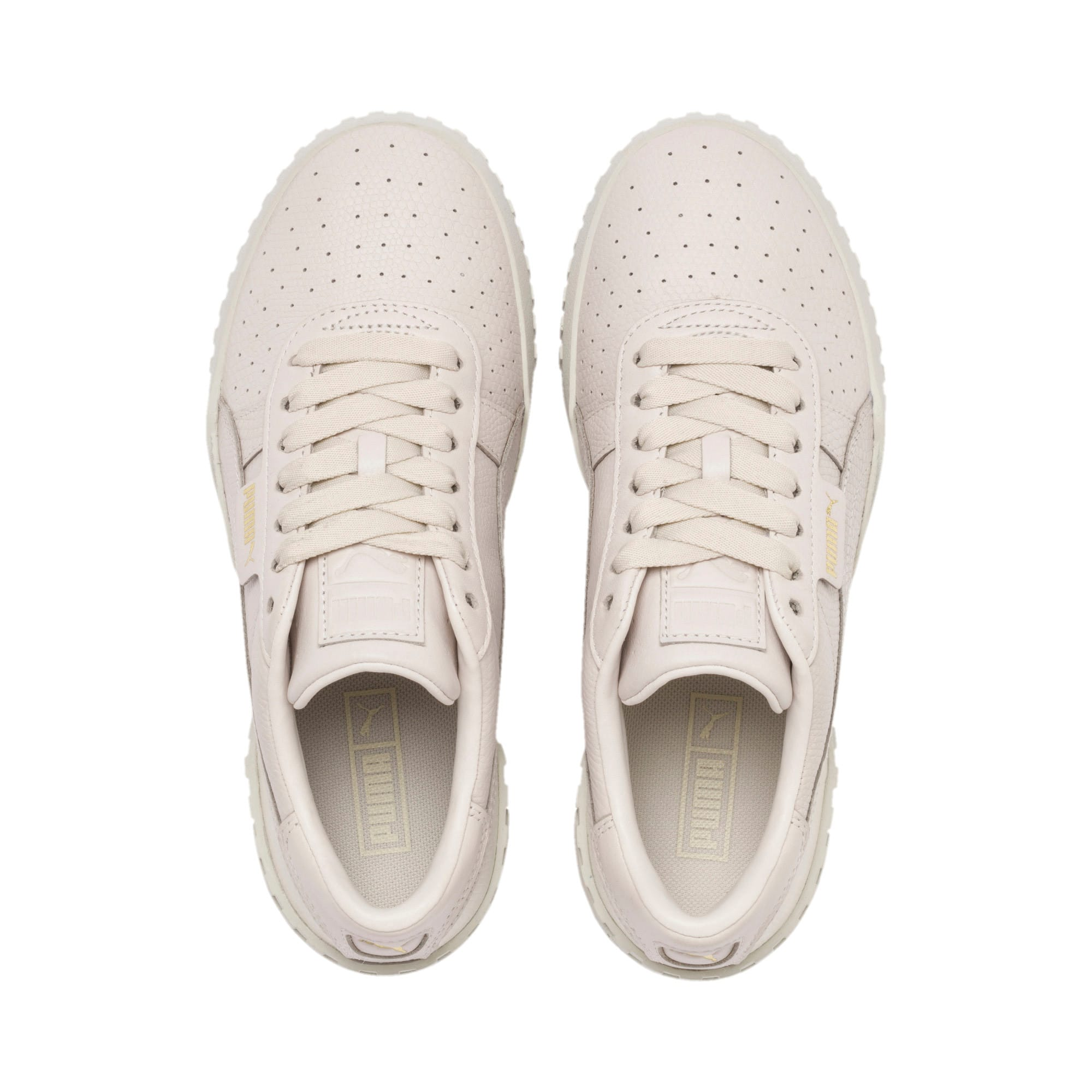 Cali Emboss sneakers voor dames, Pastel Parchment, large